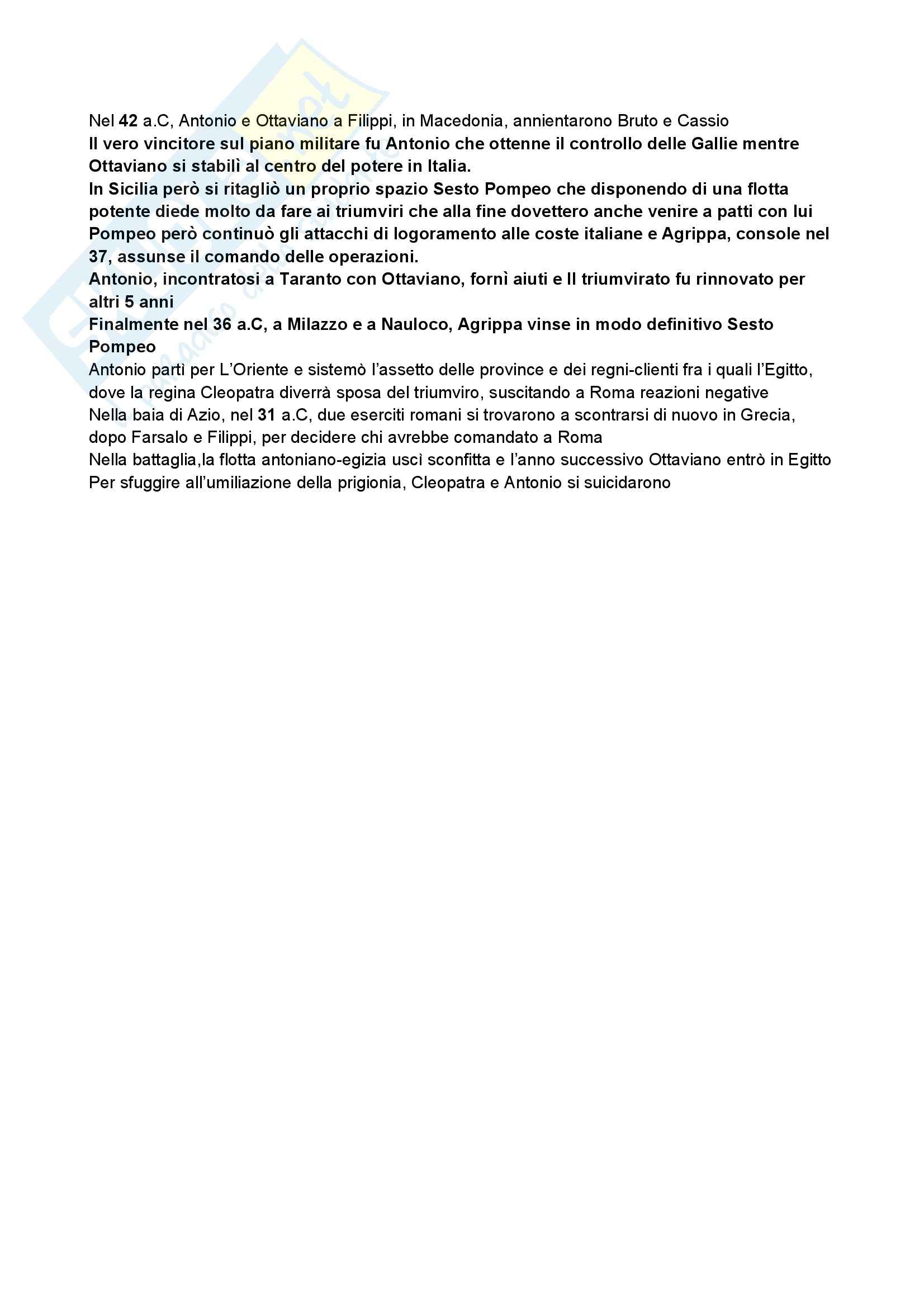 Riassunto esame Storia romana, prof. Albana, libro consigliato Introduzione alla storia di Roma, Gabba Pag. 16