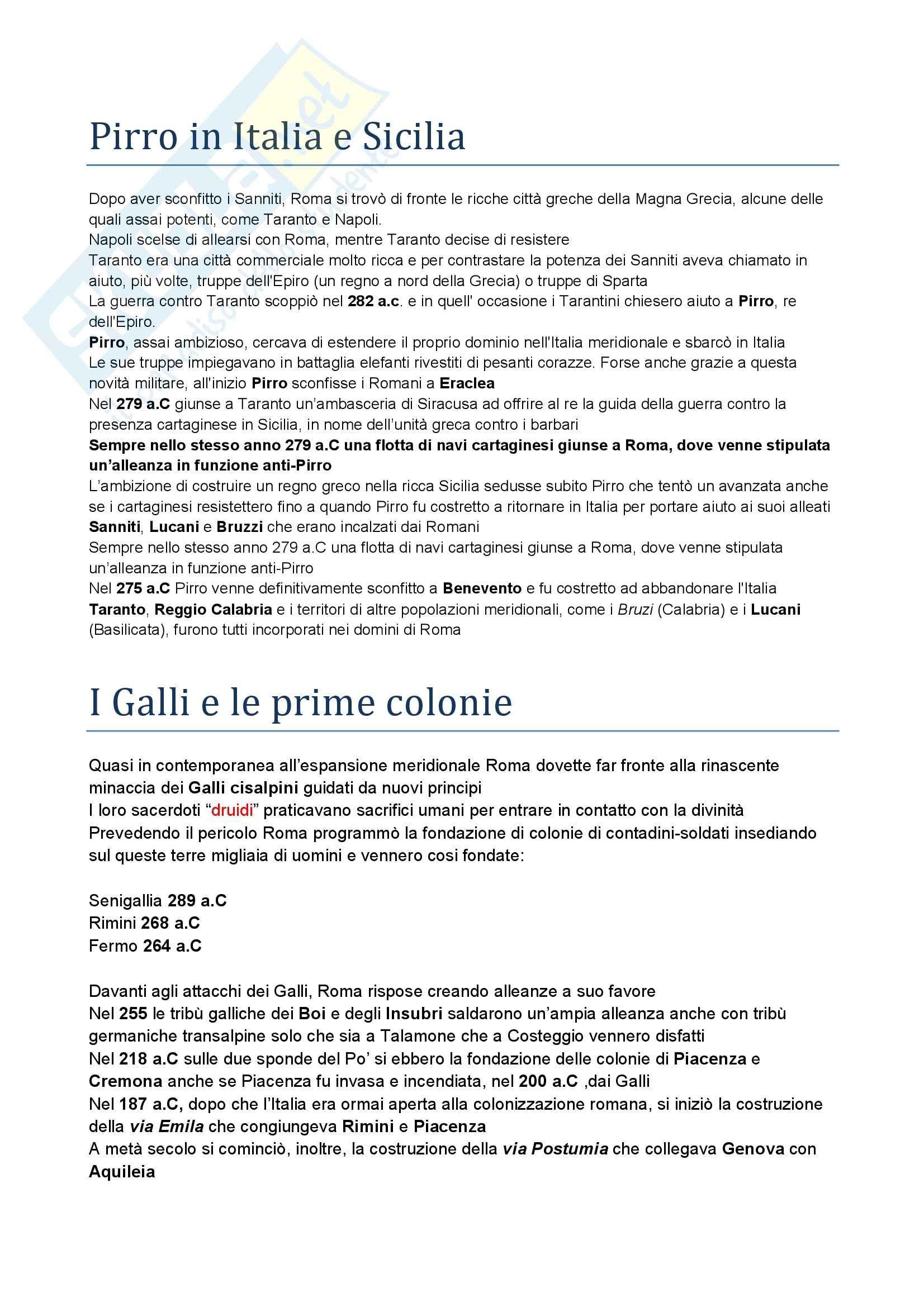 Riassunto esame Storia romana, prof. Albana, libro consigliato Introduzione alla storia di Roma, Gabba Pag. 31