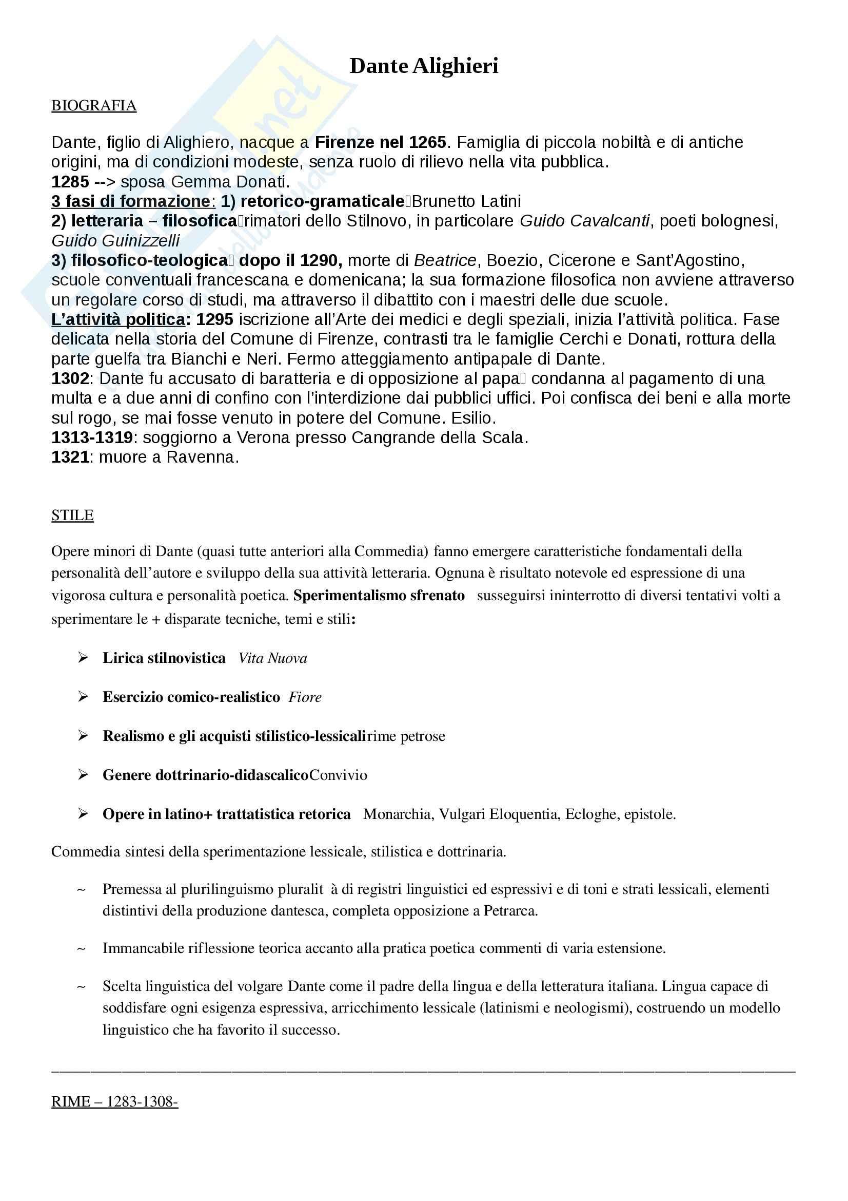 Letteratura Italiana - Tutto su Dante, Boccaccio, Petrarca, Machiavelli, Ariosto, Tasso