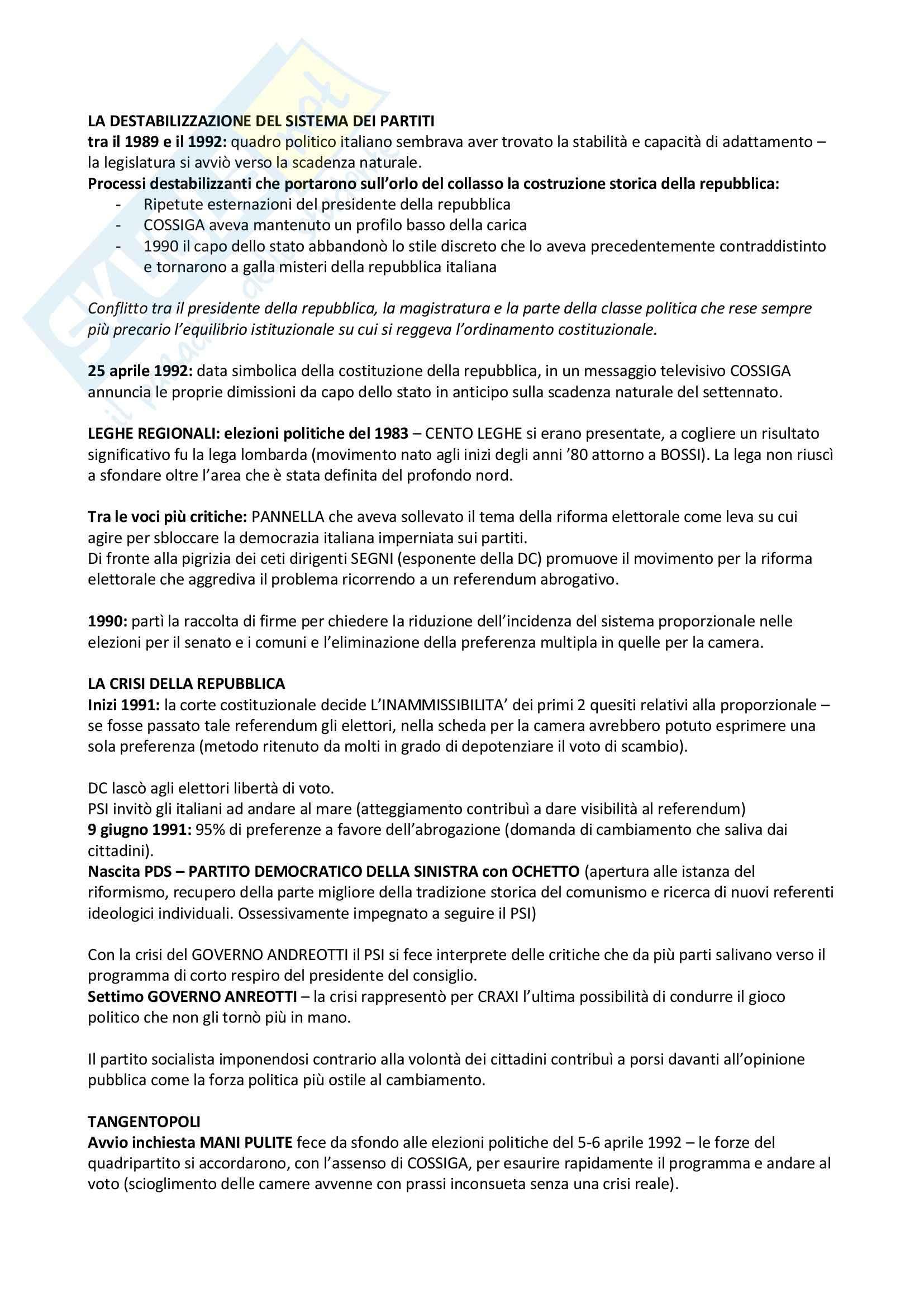 Riassunto esame Storia contemporanea, prof. Formigoni, libro consigliato L'italia contemporanea un profilo storico (1939-2008), Vecchio, Trionfini Pag. 31