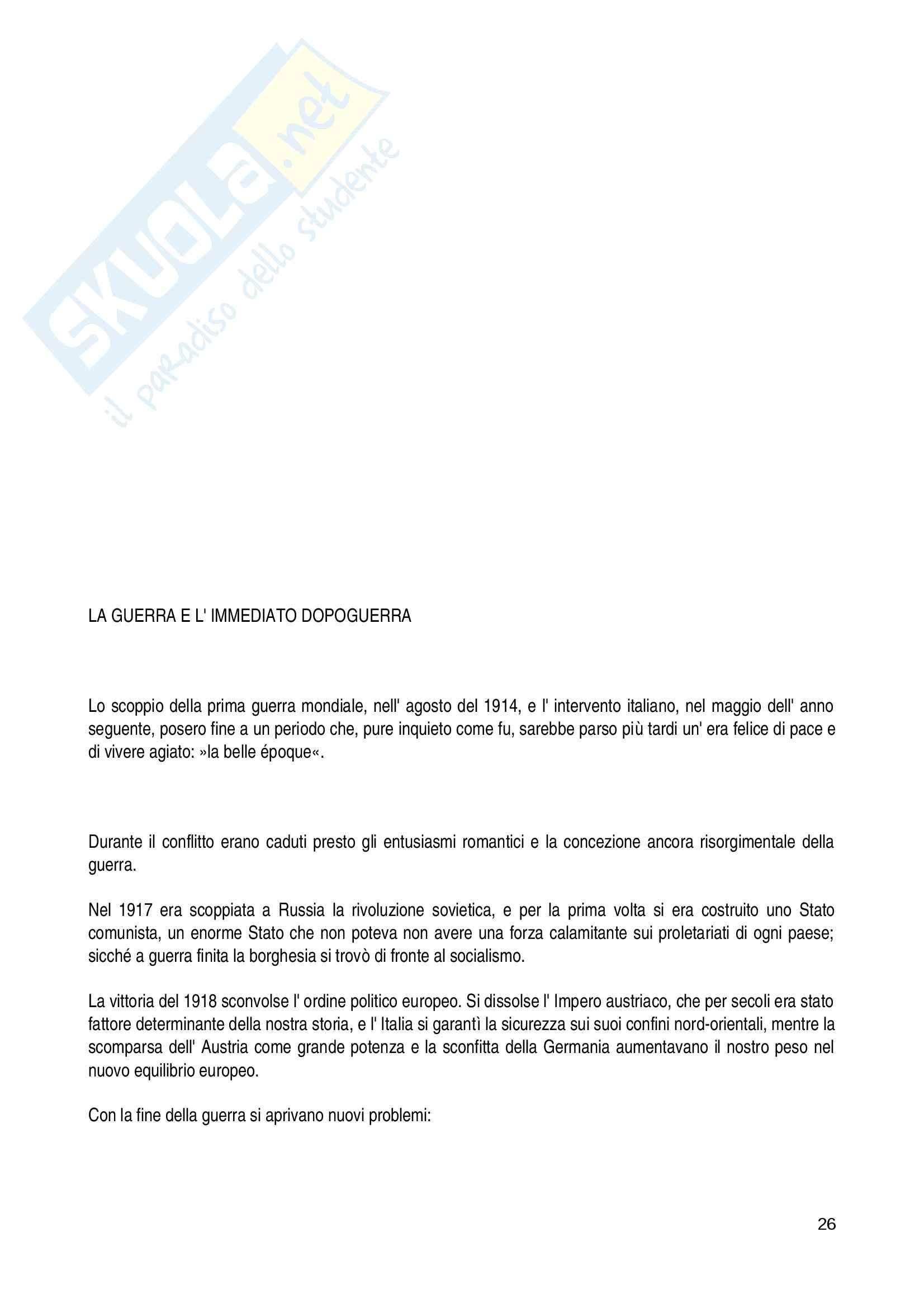 Riassunto esame Letteratura Italiana, prof. Del Ben, libro consigliato L'Attività Letteraria in Italia, Petronio Pag. 26