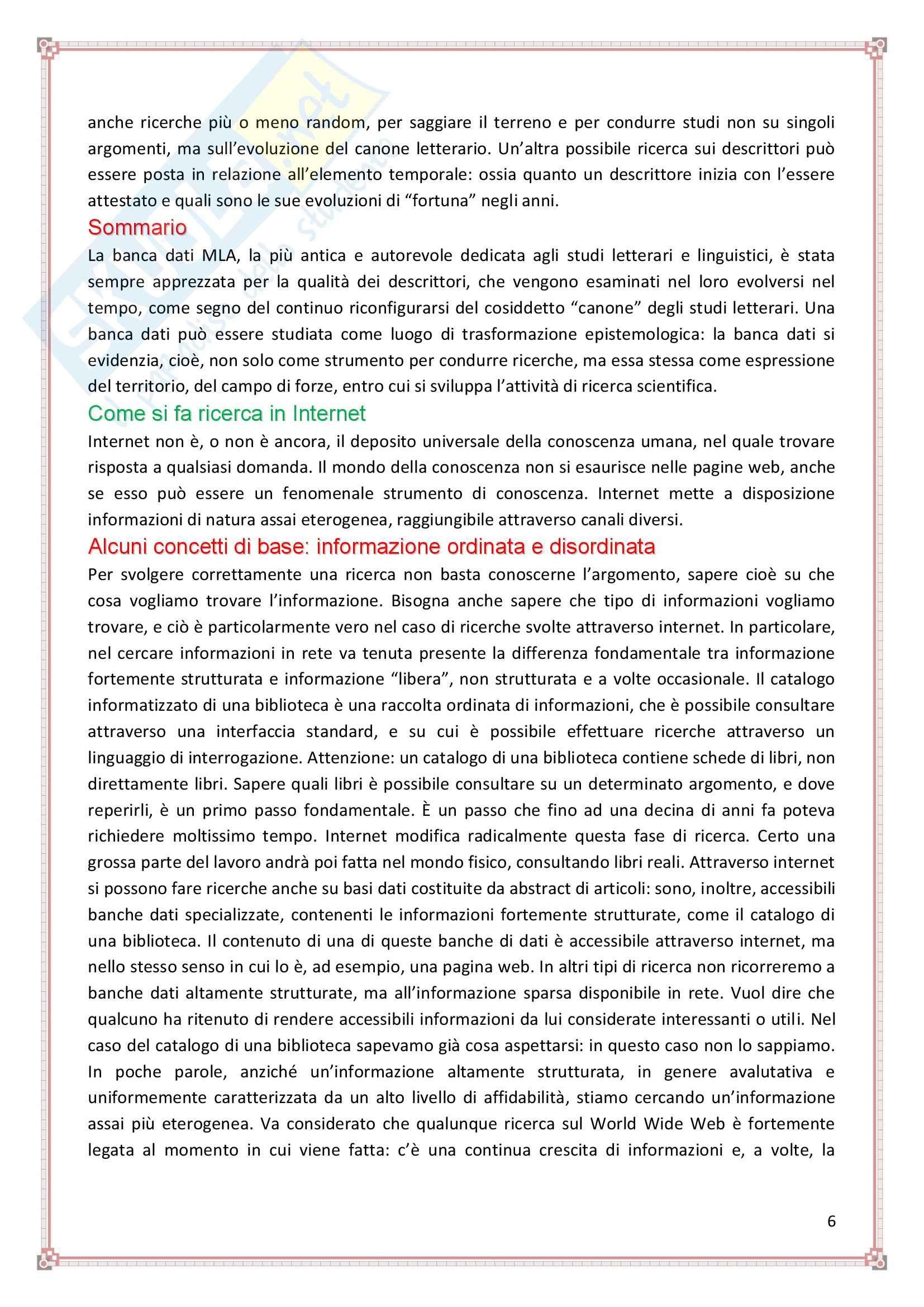 Le risorse del Web - Appunti Pag. 6