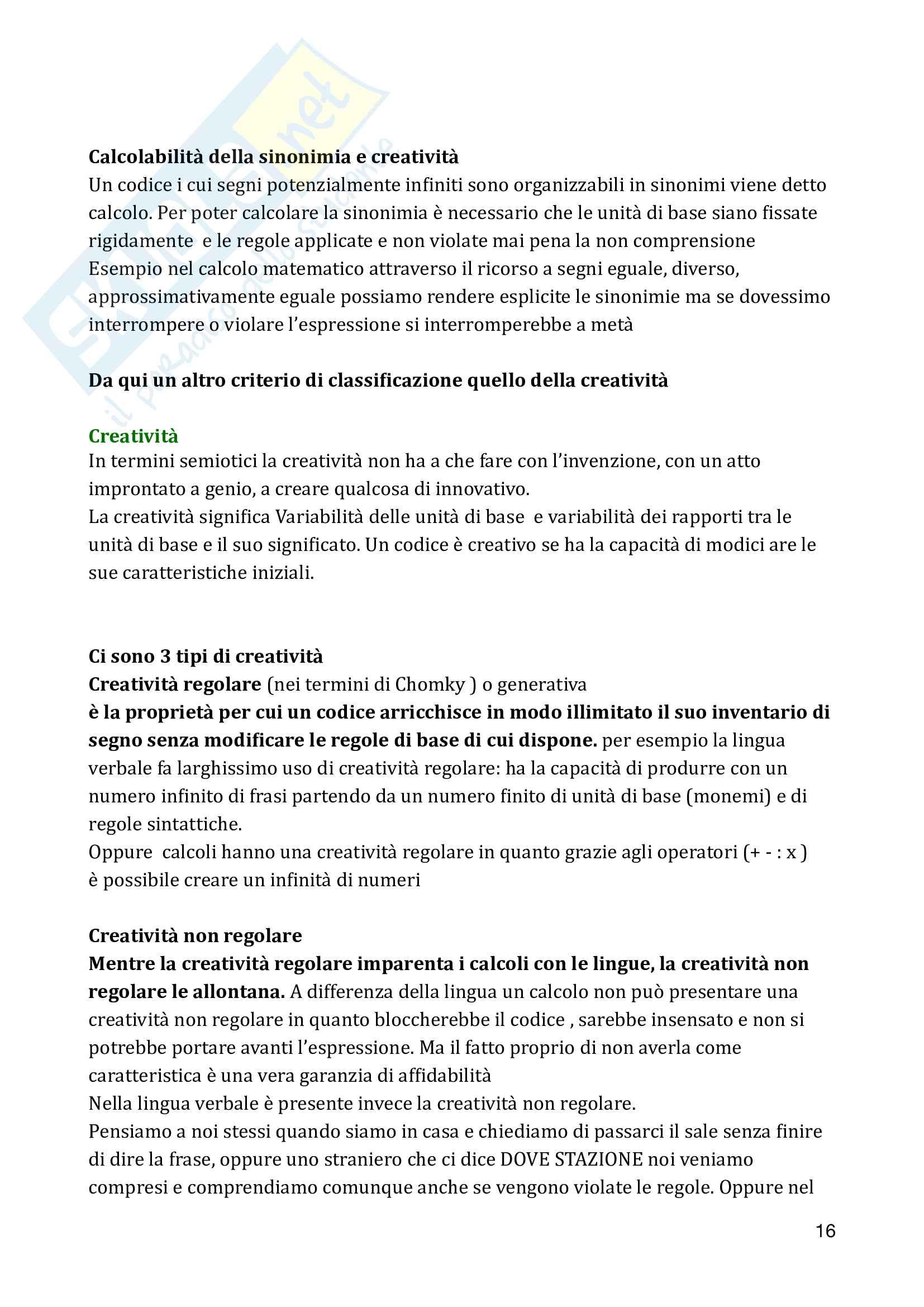 Appunti semiotica E. Marinoni Pag. 16