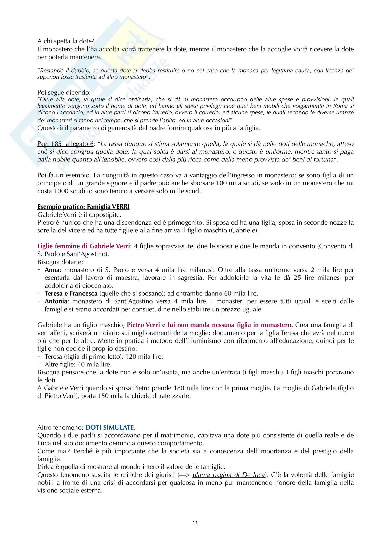 Appunti storia del diritto di famiglia Garlati Bicocca Pag. 11