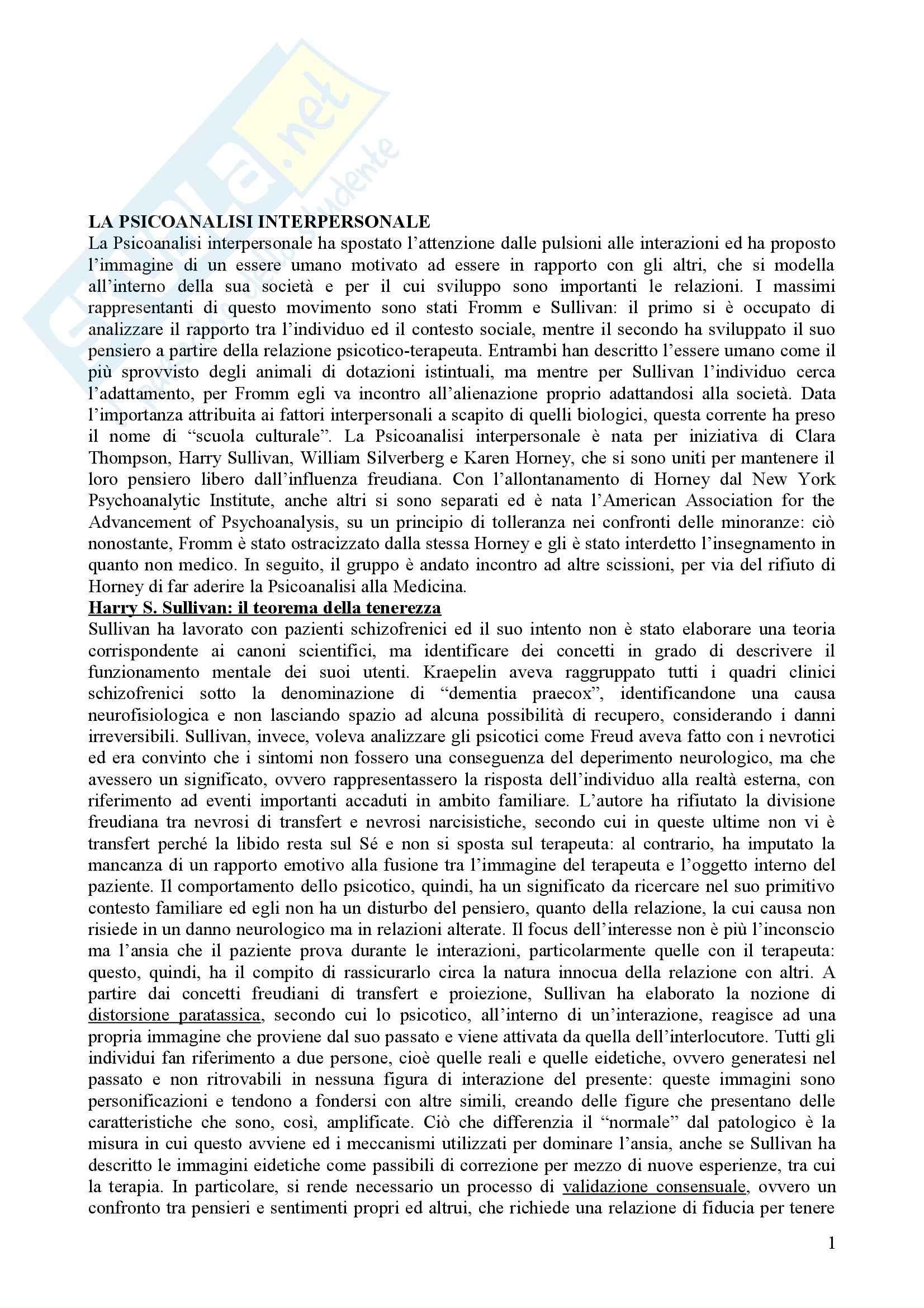 Riassunto esame Psicologia Dinamica, prof. Nespoli, libro consigliato Modelli Evolutivi in Psicologia Dinamica II, Quaglia, Longobardi