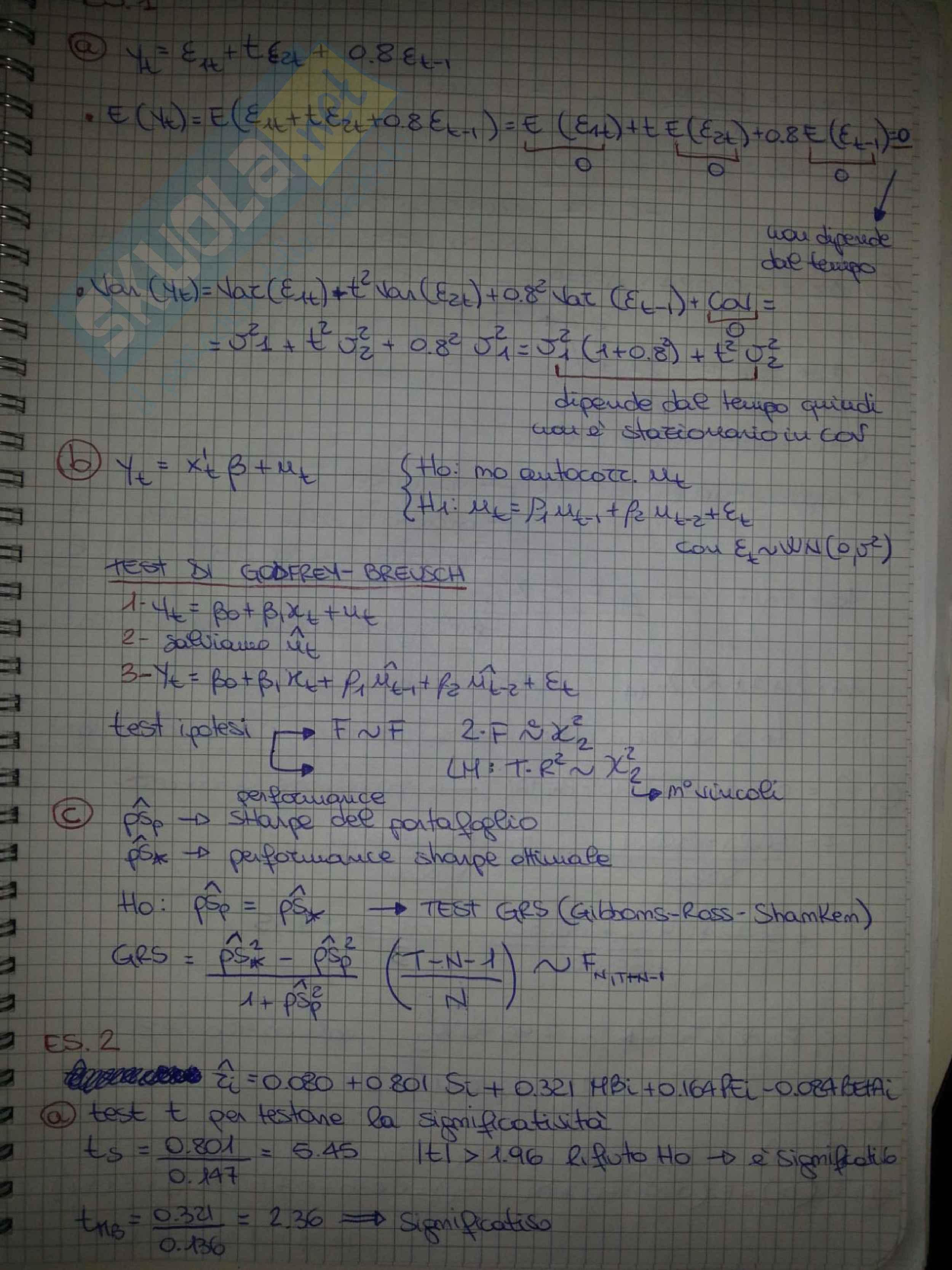 Compito di econometria 2