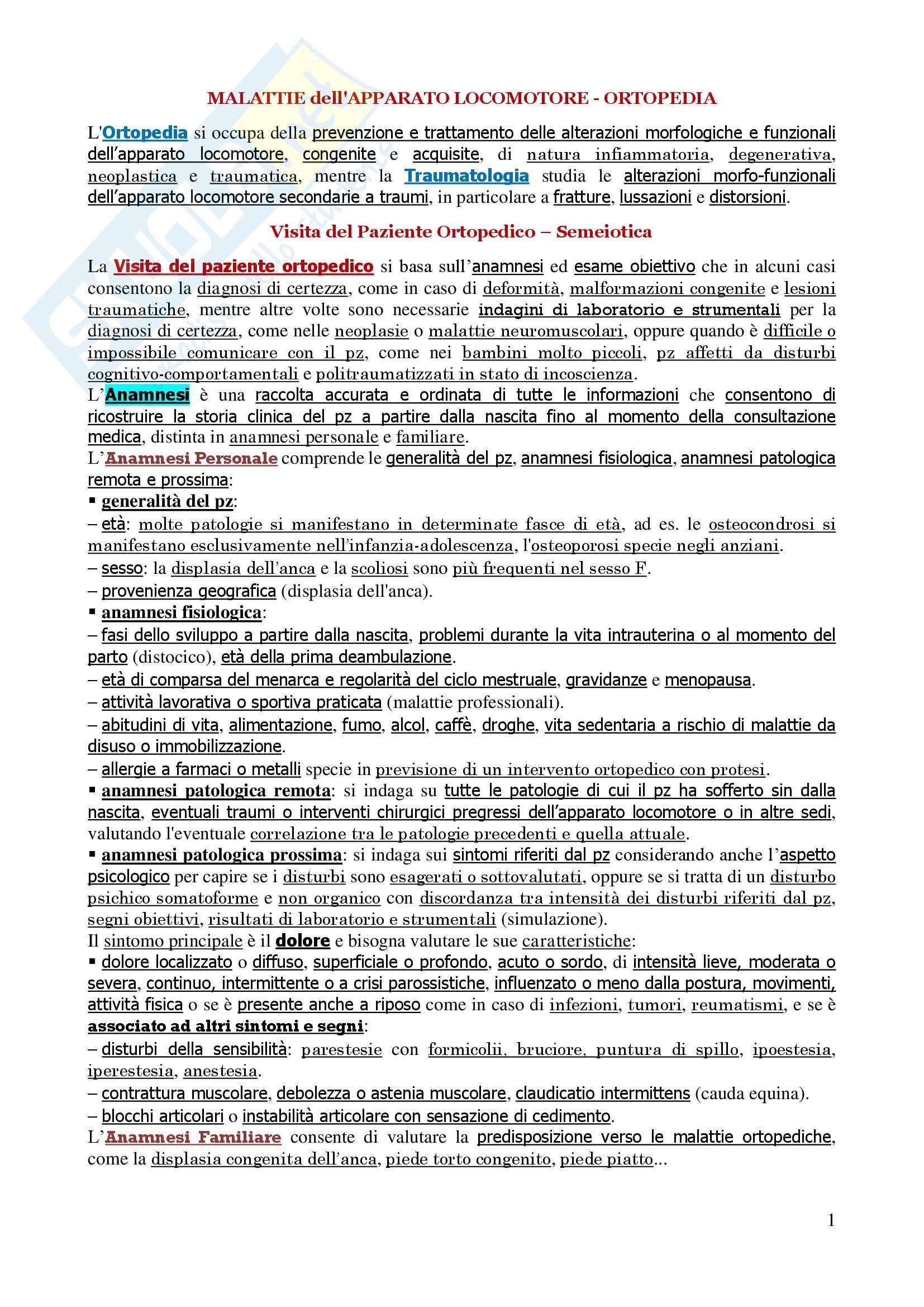 Malattie dell'apparato locomotore - Corso completo Pag. 2