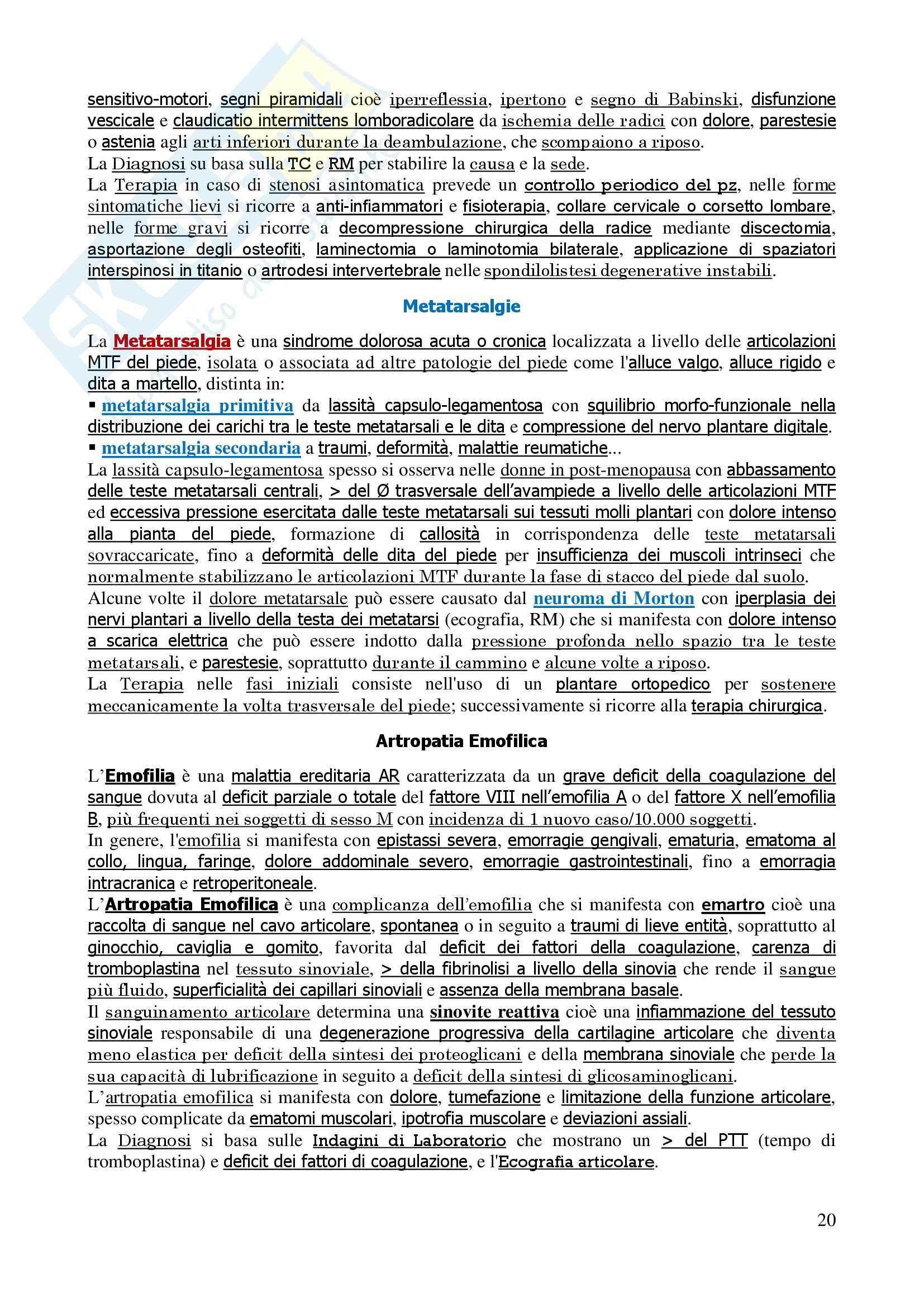 Malattie dell'apparato locomotore - Corso completo Pag. 21
