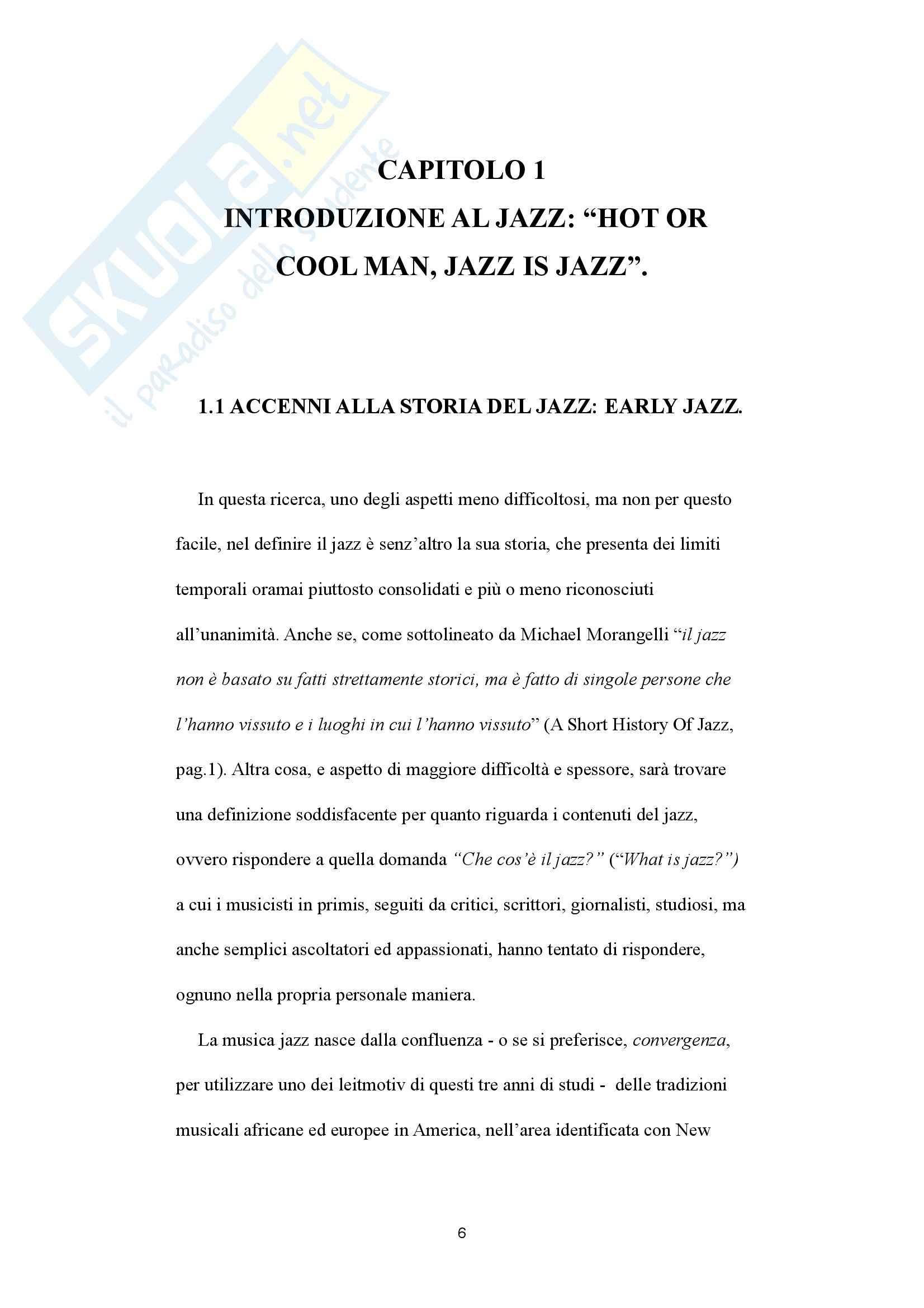 Say something: gestione della complessità e processi improvvisativi nella musica jazz - Tesi Pag. 6