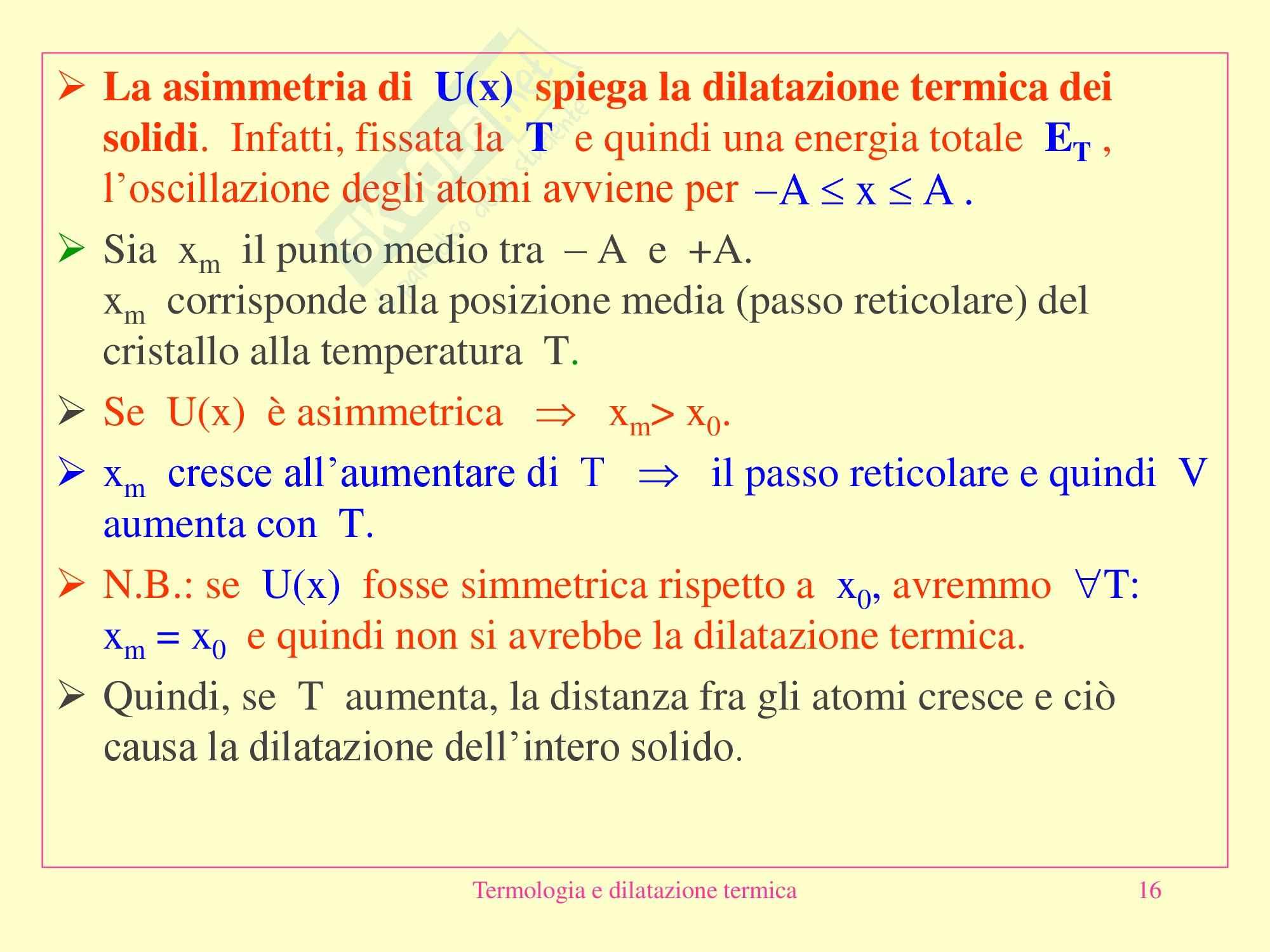 Fisica medica - Termologia e dilatazione termica Pag. 16