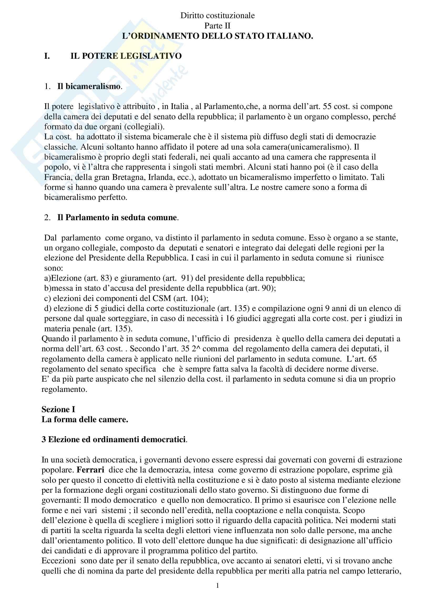 Riassunto esame Diritto Costituzionale, prof. Spadaro, libro consigliato Diritto Costituzionale, Martines