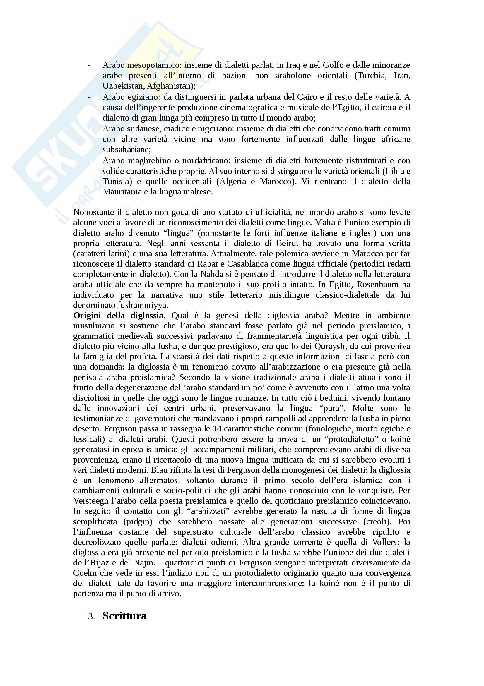 Riassunto esame Dialettologia araba, prof. Durand, libro consigliato Dialettologia araba di Olivier Durand Pag. 6