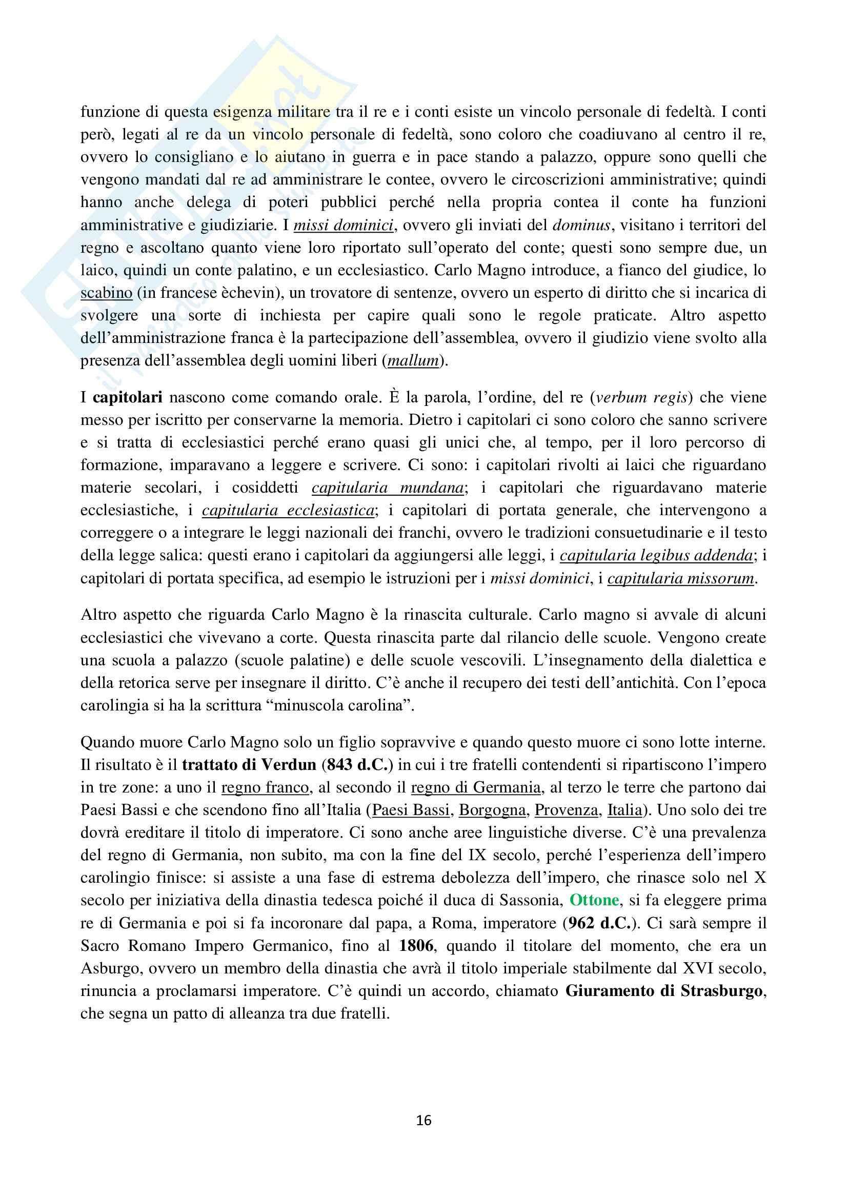 Storia del Diritto italiano ed europeo - Appunti Pag. 16