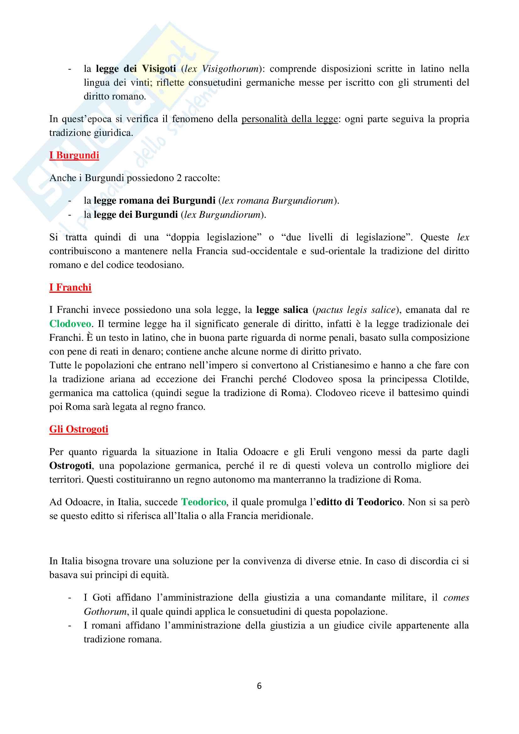 Storia del Diritto italiano ed europeo - Appunti Pag. 6