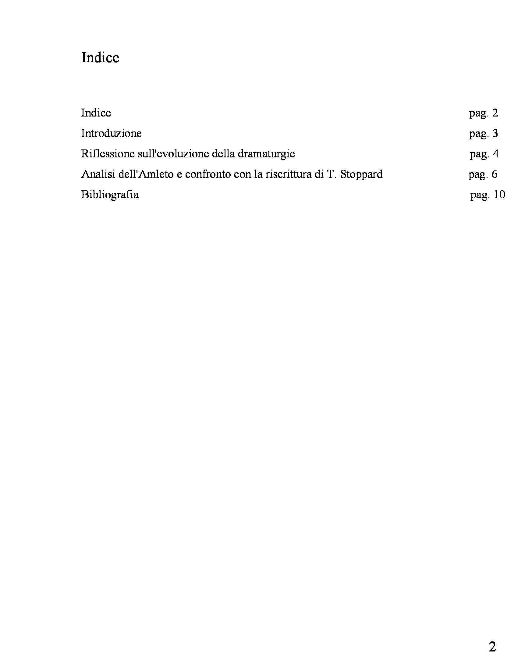Drammaturgia - relazione su Amleto Pag. 2