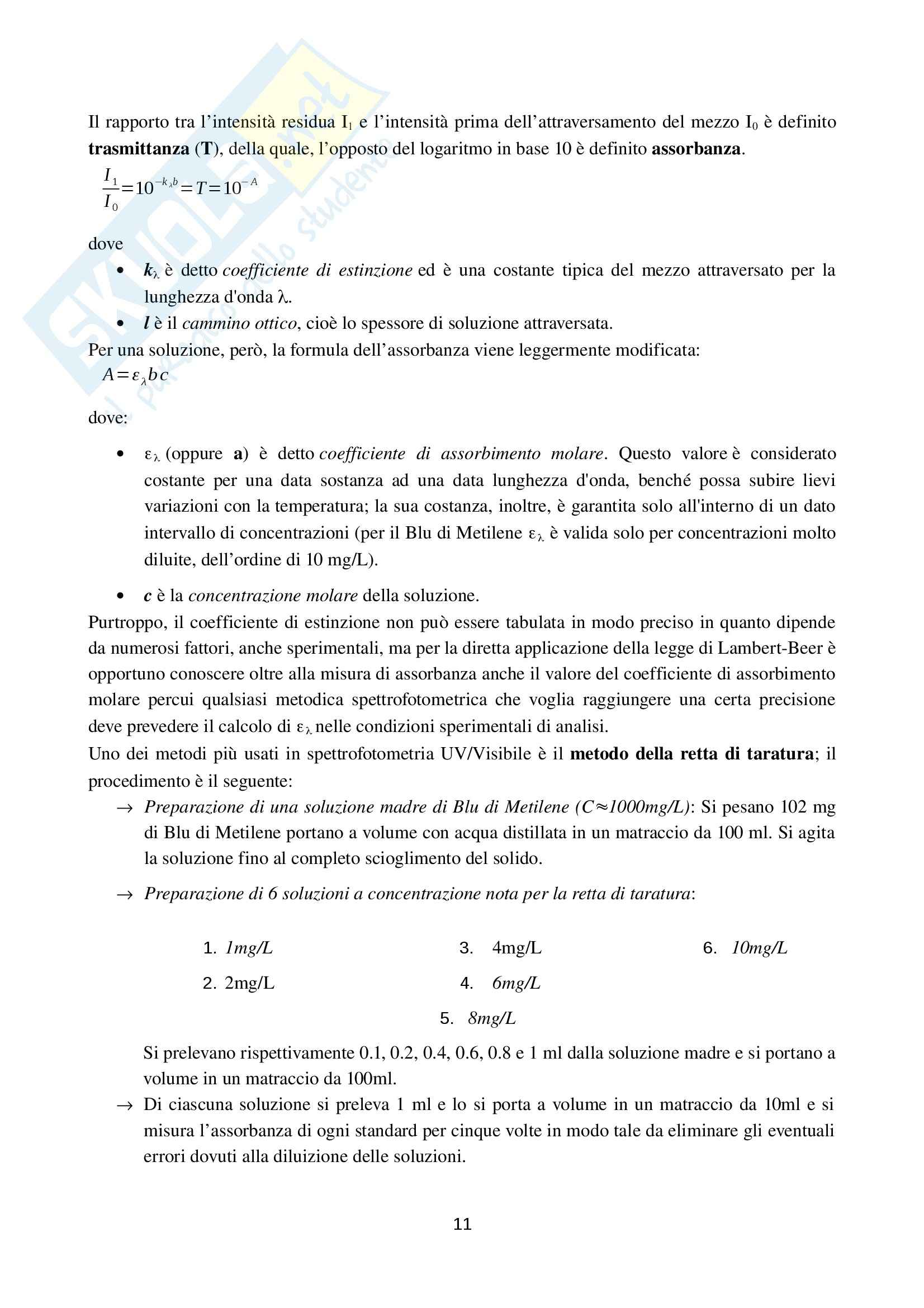 Relazione Laboratorio 3, Laboratorio di ingegneria chimica Pag. 11