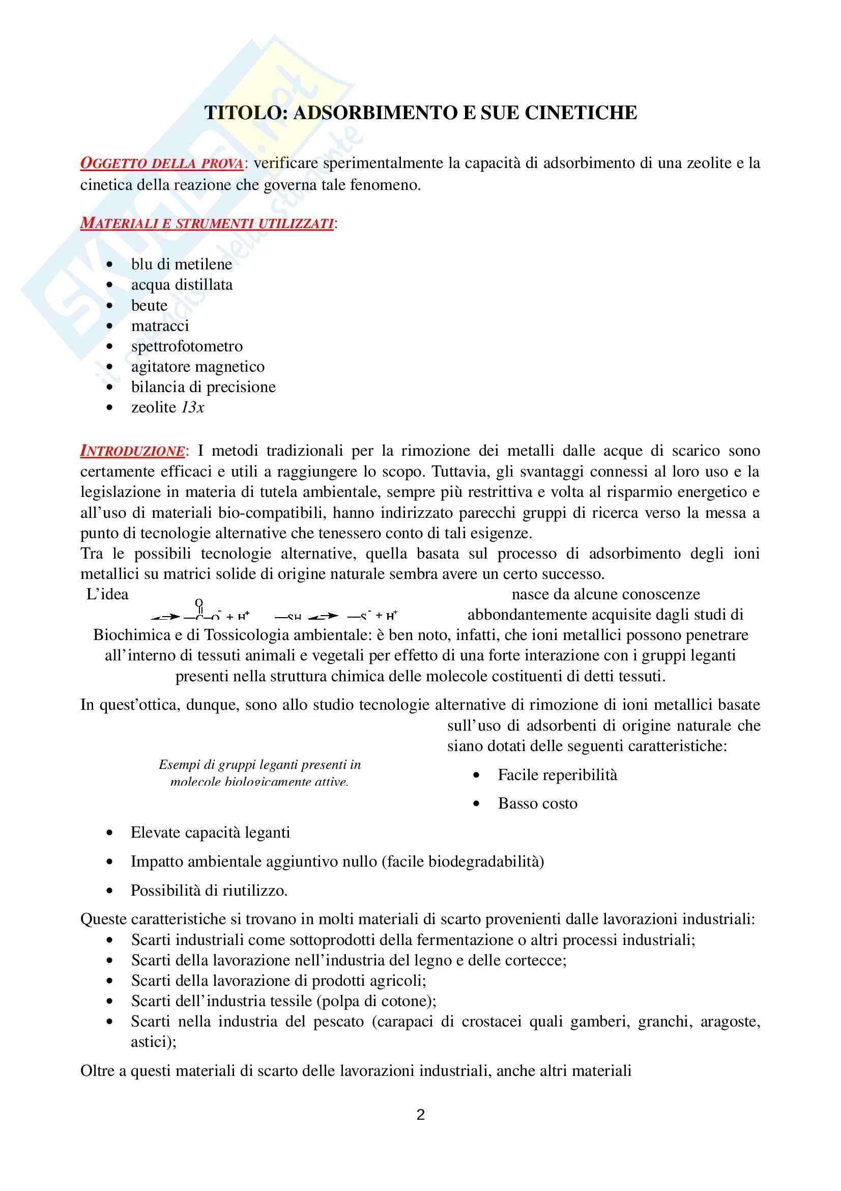 Relazione Laboratorio 3, Laboratorio di ingegneria chimica Pag. 2