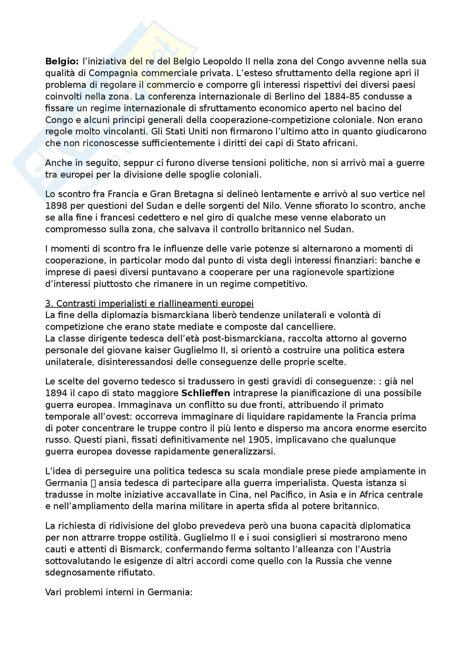 Riassunto esame Storia contemporanea, prof. Formigoni, libro consigliato La politica internazionale del Novecento Pag. 11