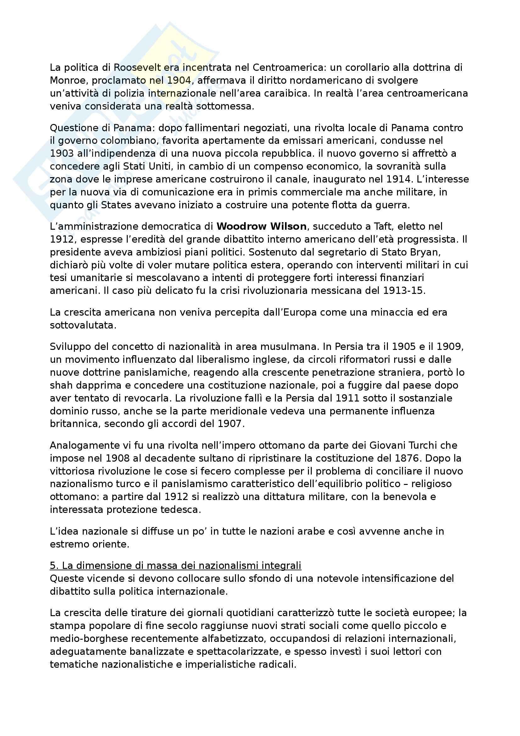 Riassunto esame Storia contemporanea, prof. Formigoni, libro consigliato La politica internazionale del Novecento Pag. 16