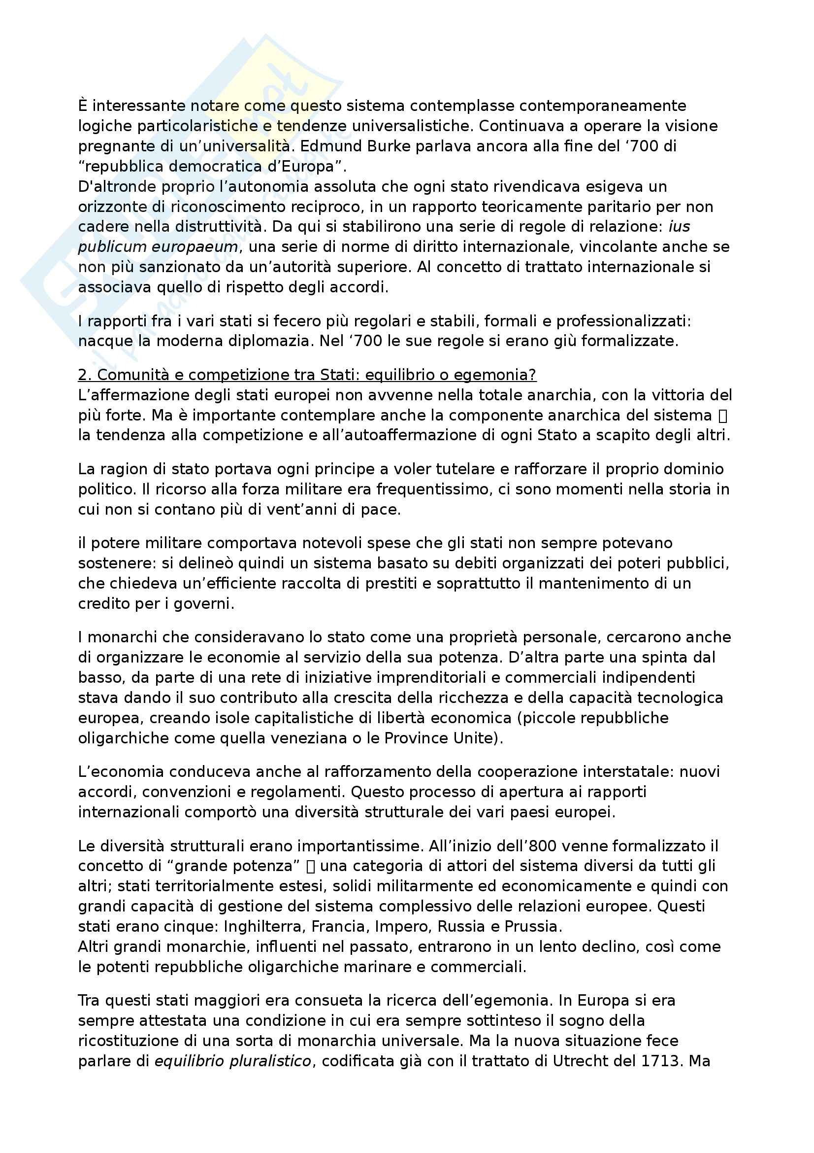 Riassunto esame Storia contemporanea, prof. Formigoni, libro consigliato La politica internazionale del Novecento Pag. 2