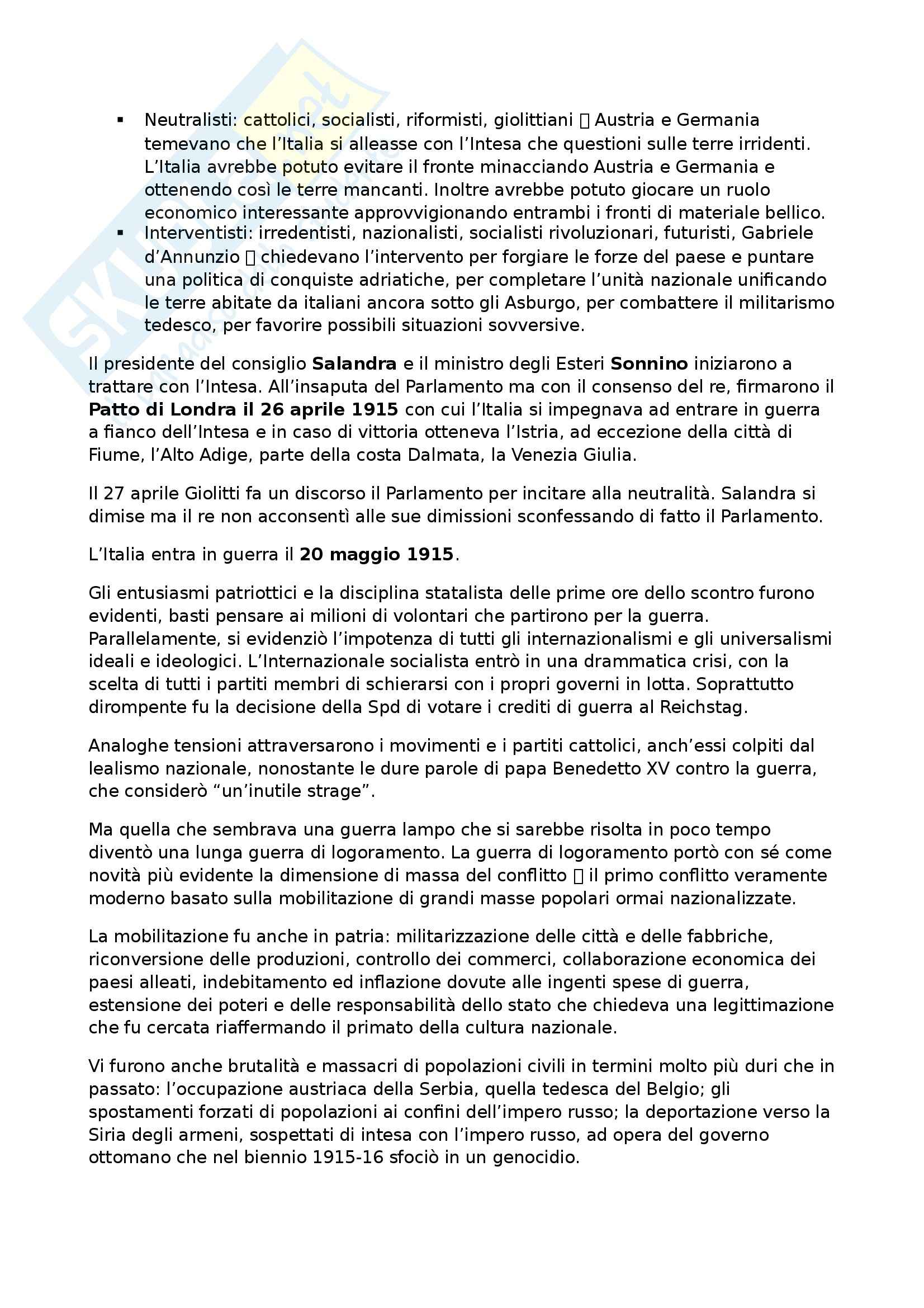 Riassunto esame Storia contemporanea, prof. Formigoni, libro consigliato La politica internazionale del Novecento Pag. 21