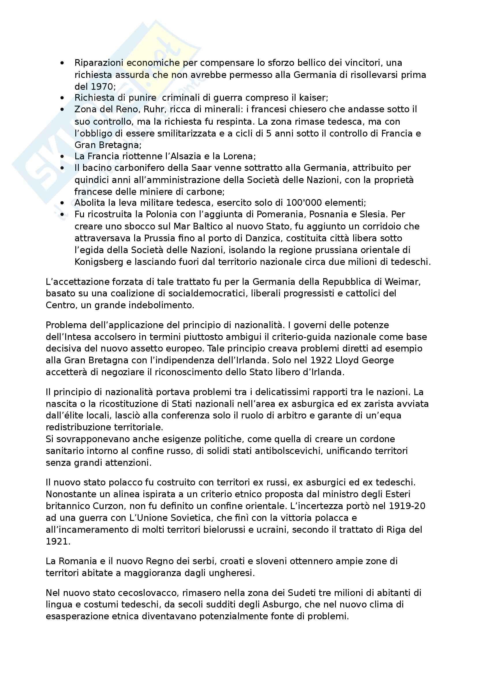 Riassunto esame Storia contemporanea, prof. Formigoni, libro consigliato La politica internazionale del Novecento Pag. 26