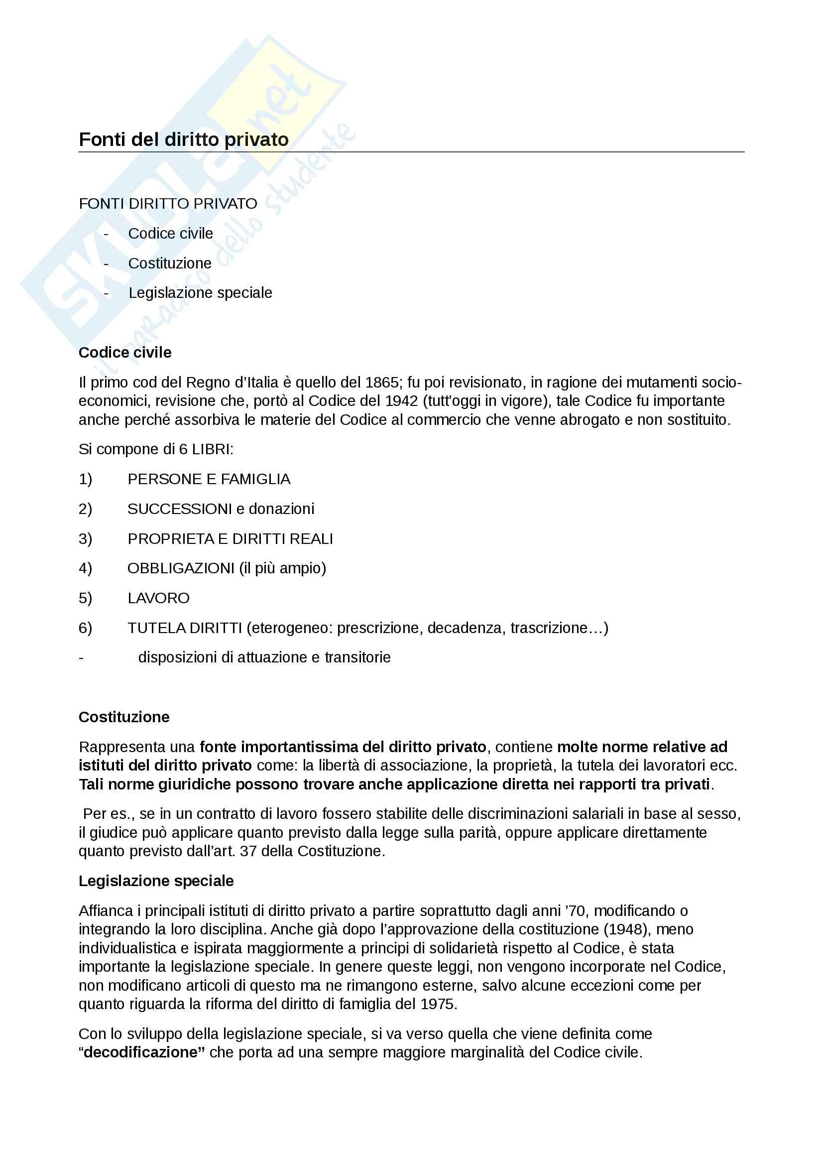 appunto E. Bargelli Diritto Privato