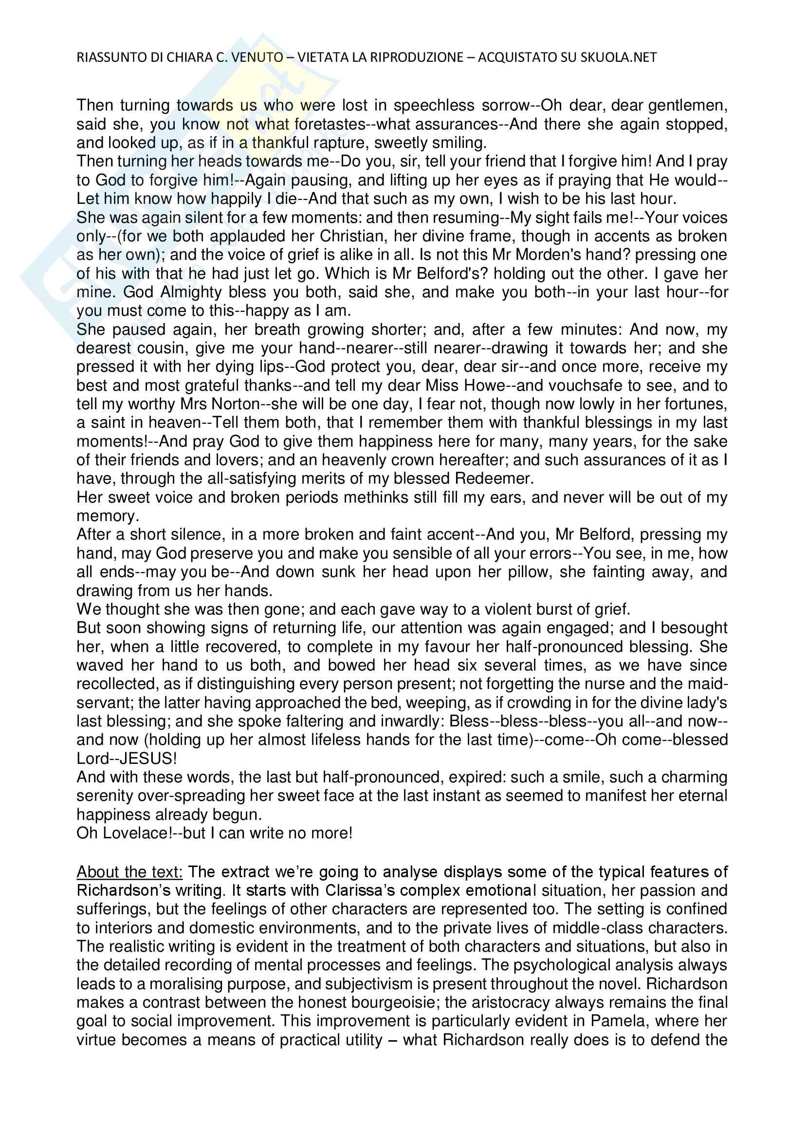 Riassunto esame Cultura e Letteratura Inglese 1 Pag. 66