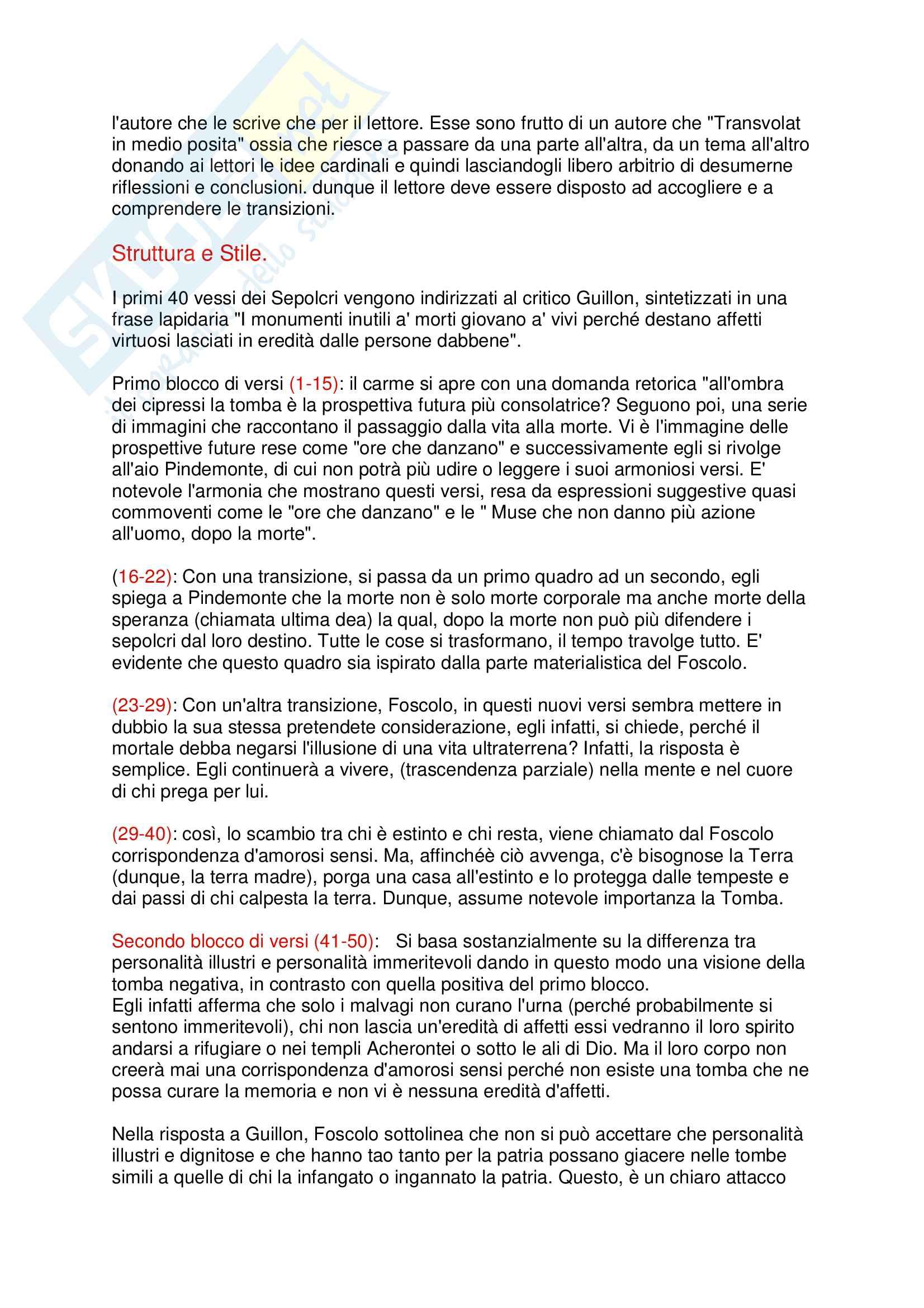 Dei Sepolcri - Foscolo Pag. 2