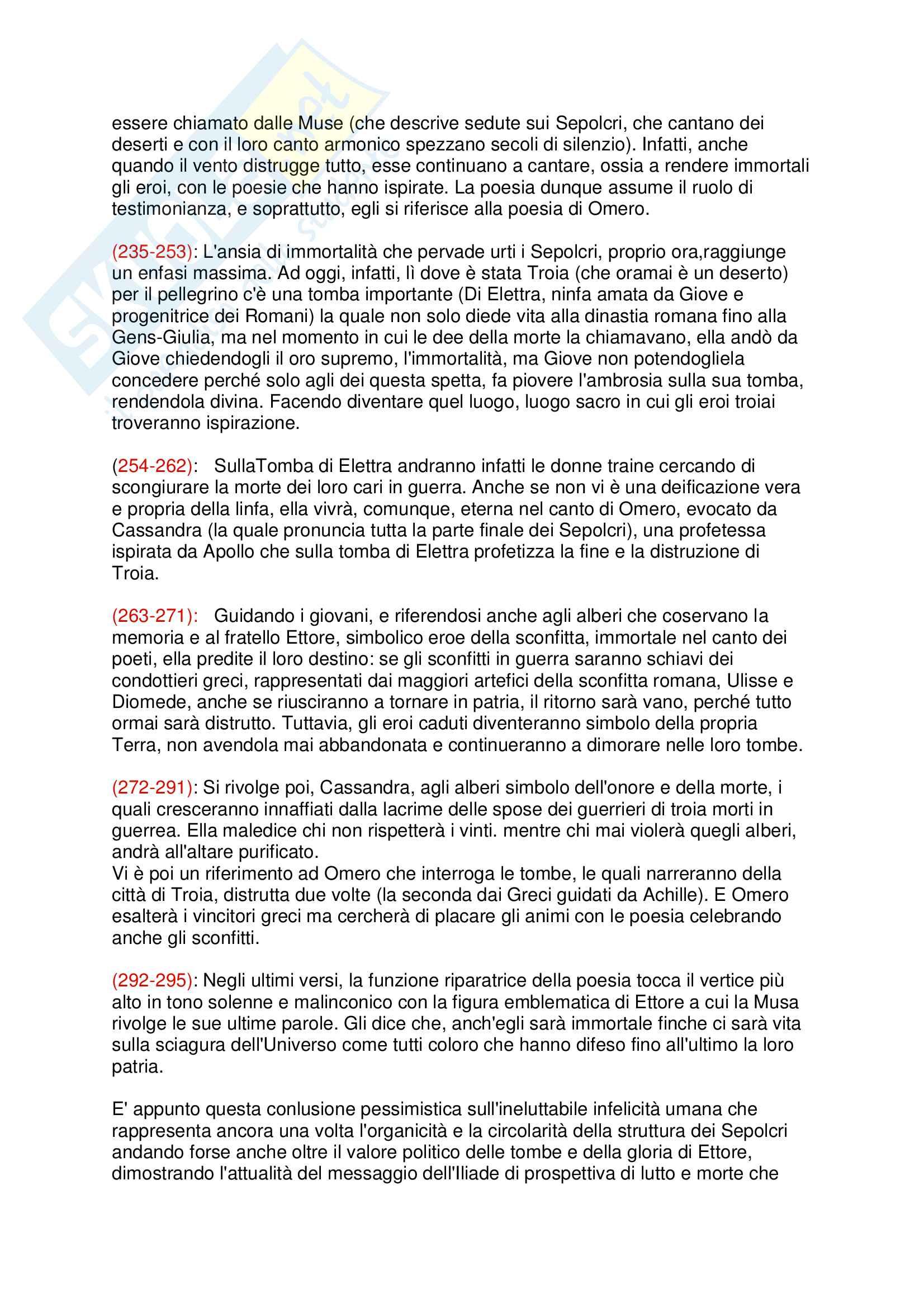 Dei Sepolcri - Foscolo Pag. 6