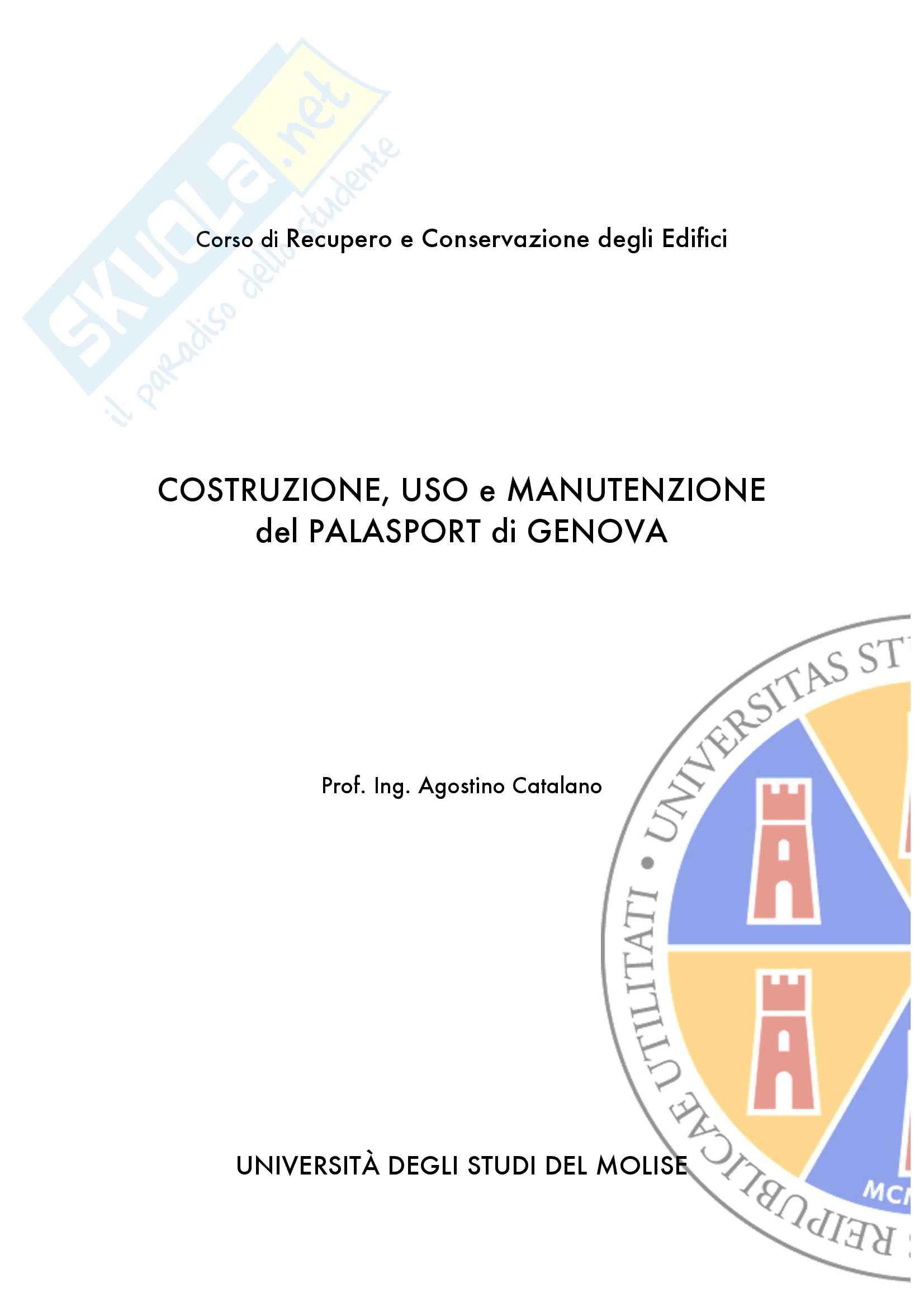Recupero e costruzione degli edifici - costruzione, uso e manutenzione del palasport di Genova
