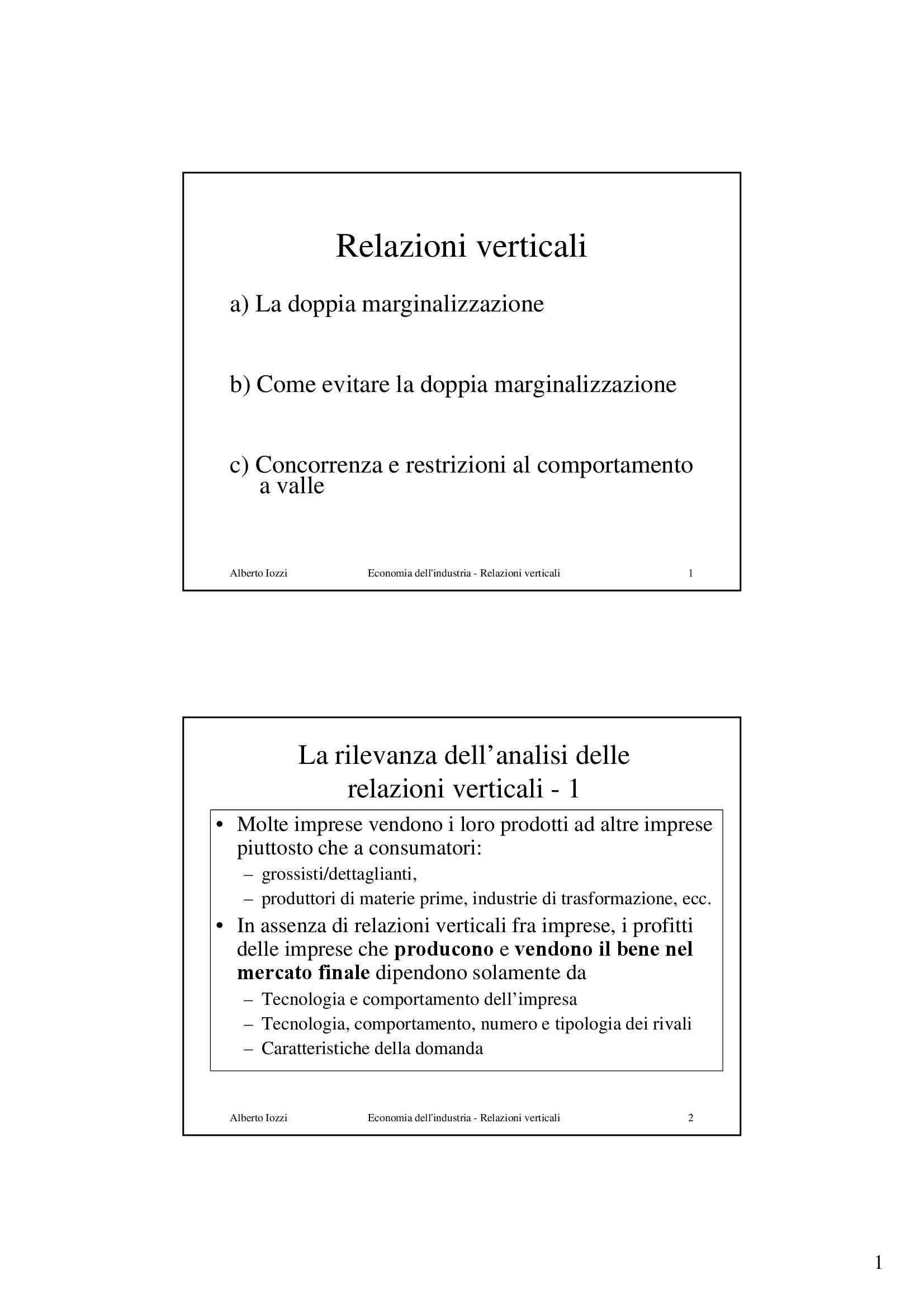 Relazioni verticali