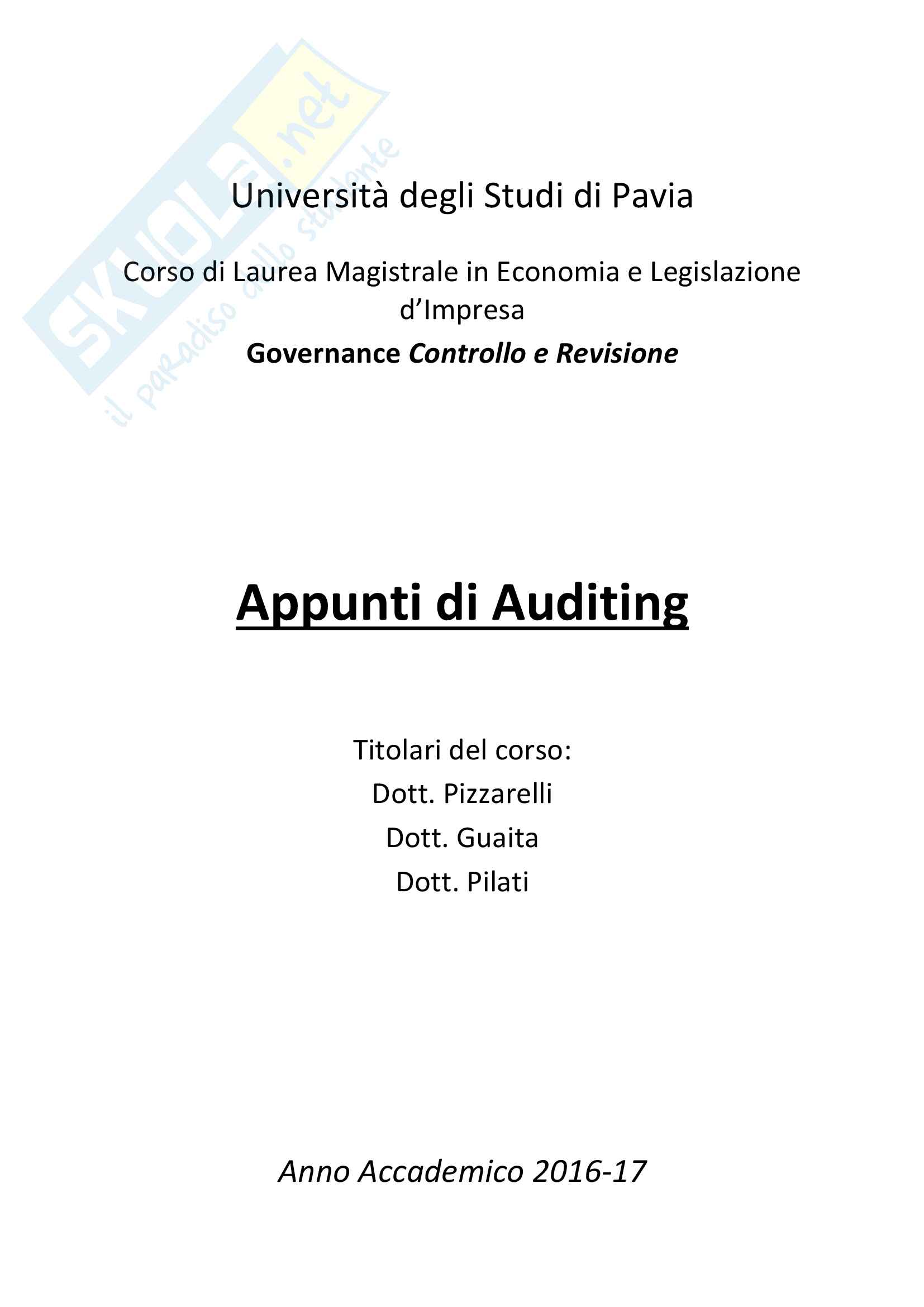 Appunti Auditing