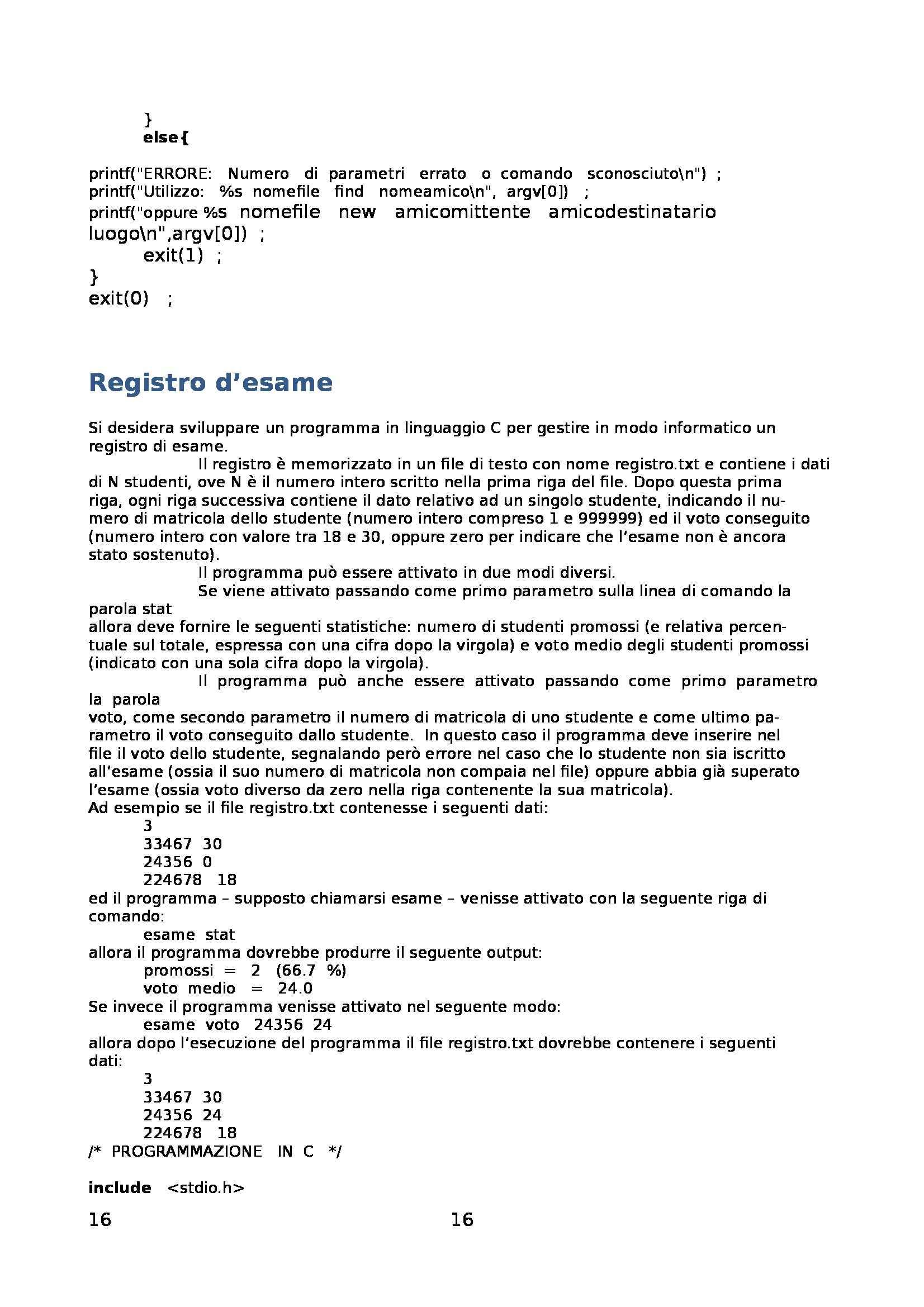 Fondamenti di informatica - Raccolta di esercizi svolti e commentati sul linguaggio di programmazione C Pag. 16