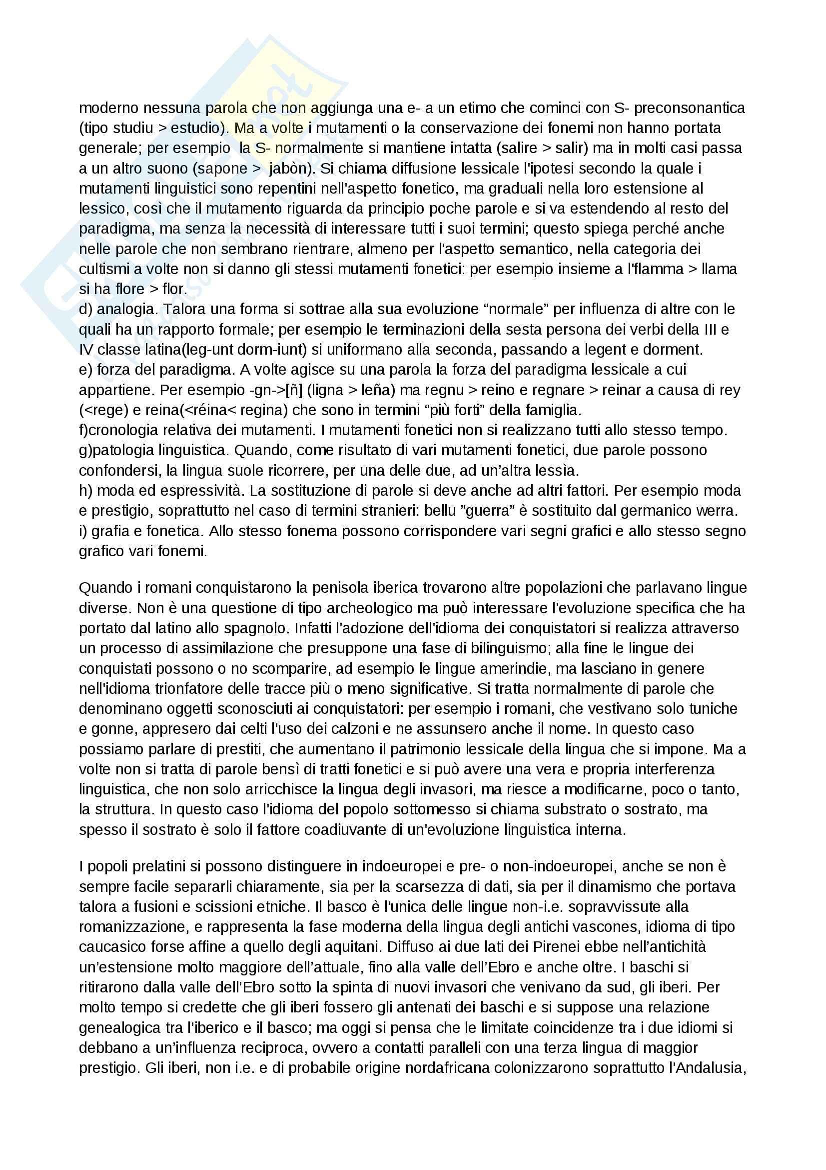 Riassunto esame Lingua spagnola, prof. Lefebvre, libro consigliato Storia della lingua spagnola, D'Agostino Pag. 2