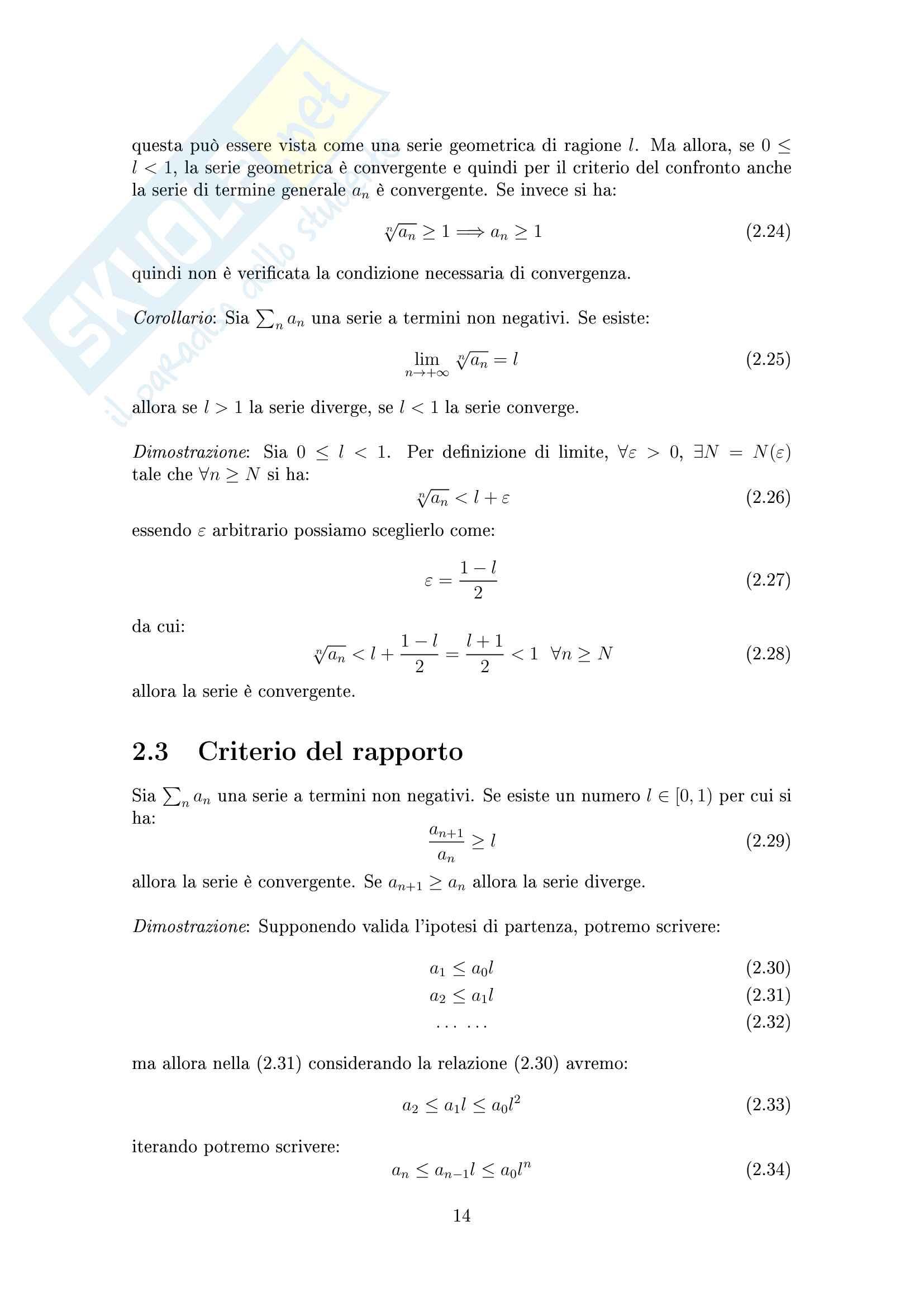 Serie Numeriche Pag. 16