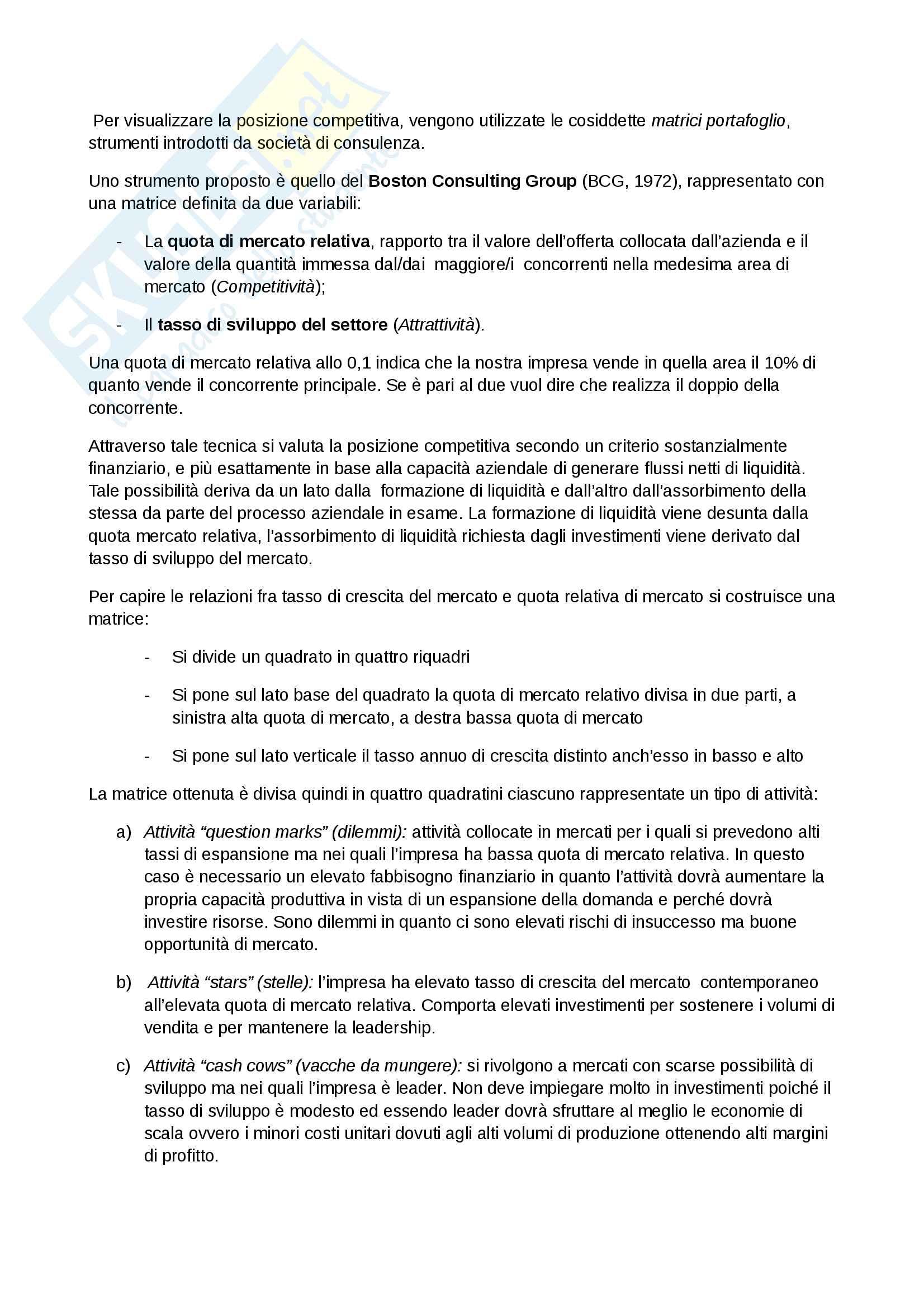 Management Secondo parziale prof Cuomo Unimib-Unisa Pag. 2