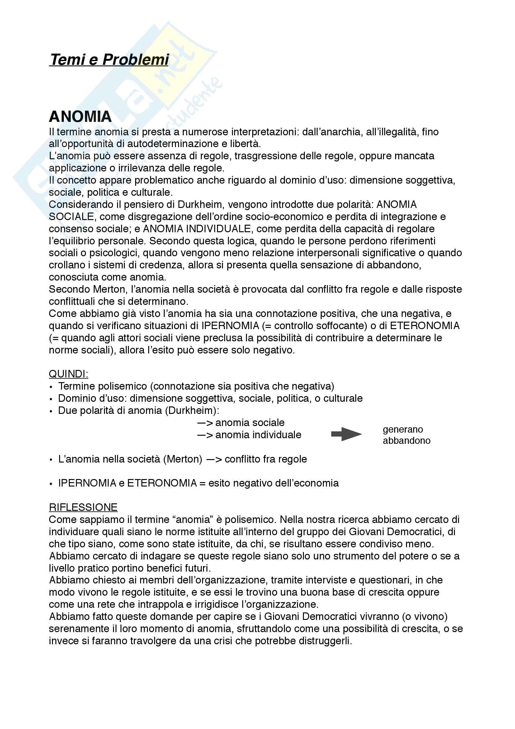 Riassunto esame Psicosociologia, prof. Maino, libro consigliato Dizionario di Psicosociologia, Barus, Michel, Enriquez Pag. 2