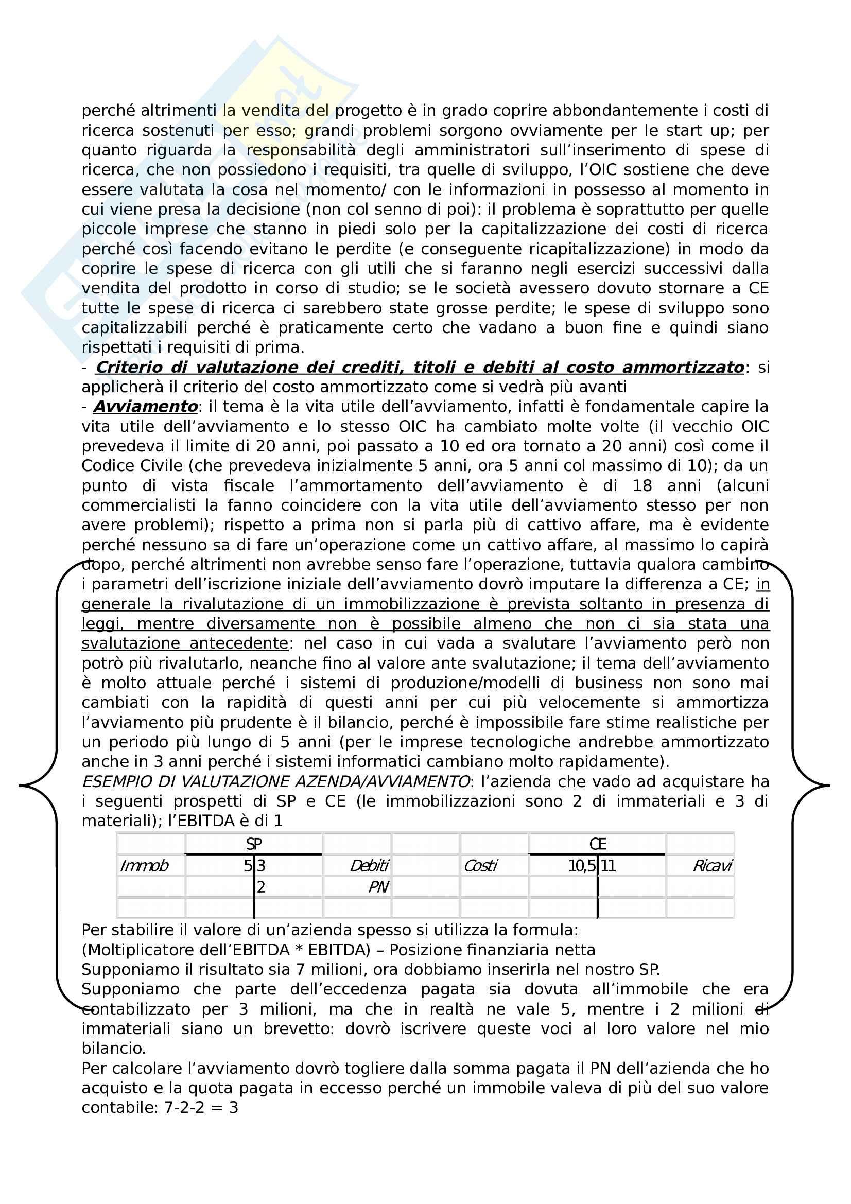 Riassunto lezioni Contabilità, bilancio e principi contabili 2 Pag. 31