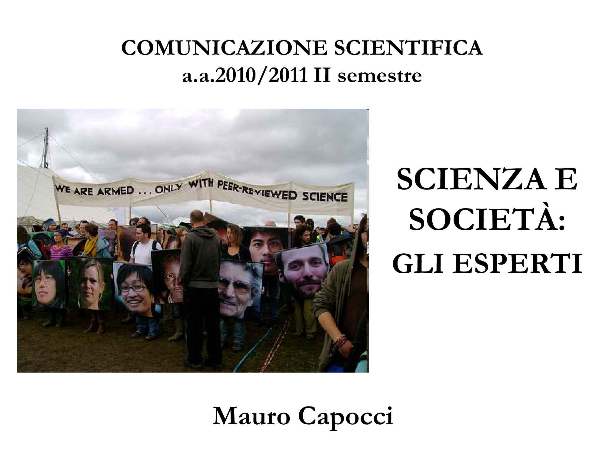 Scienza e società - Dialogo e co-produzione