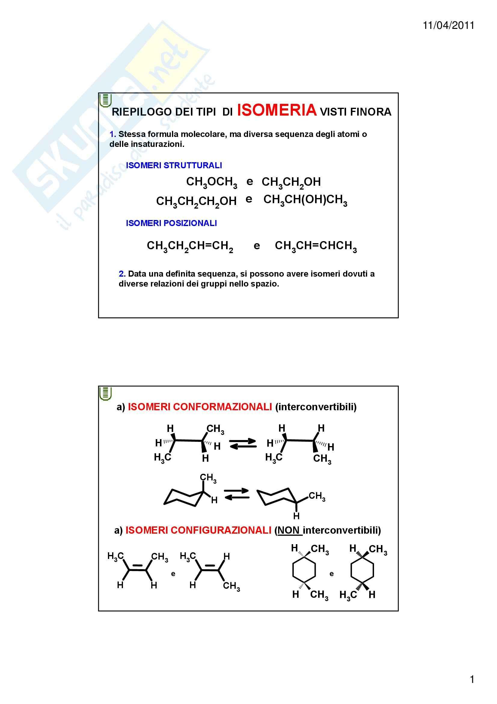 Chimica organica - la stereochimica