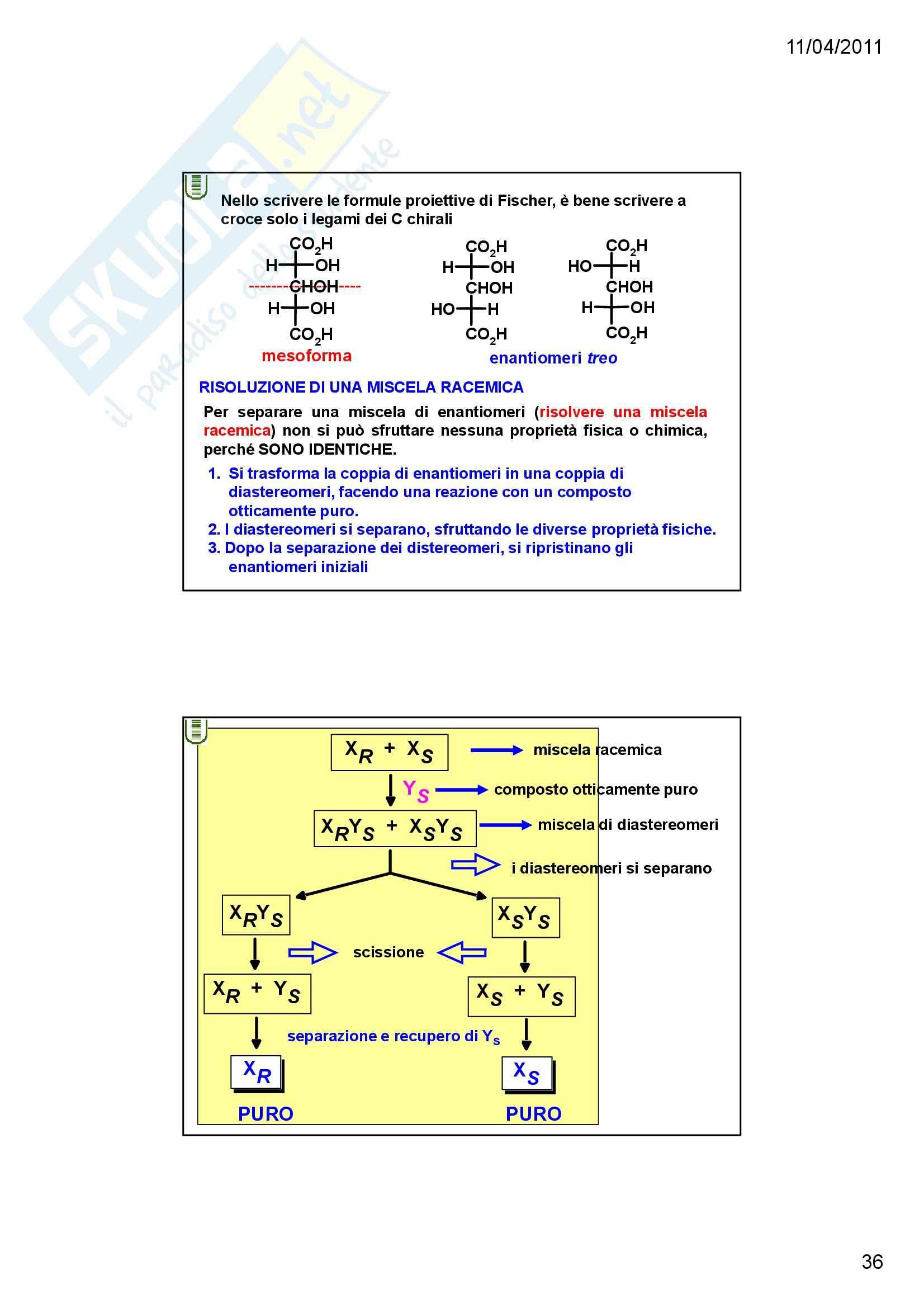 Chimica organica - la stereochimica Pag. 36
