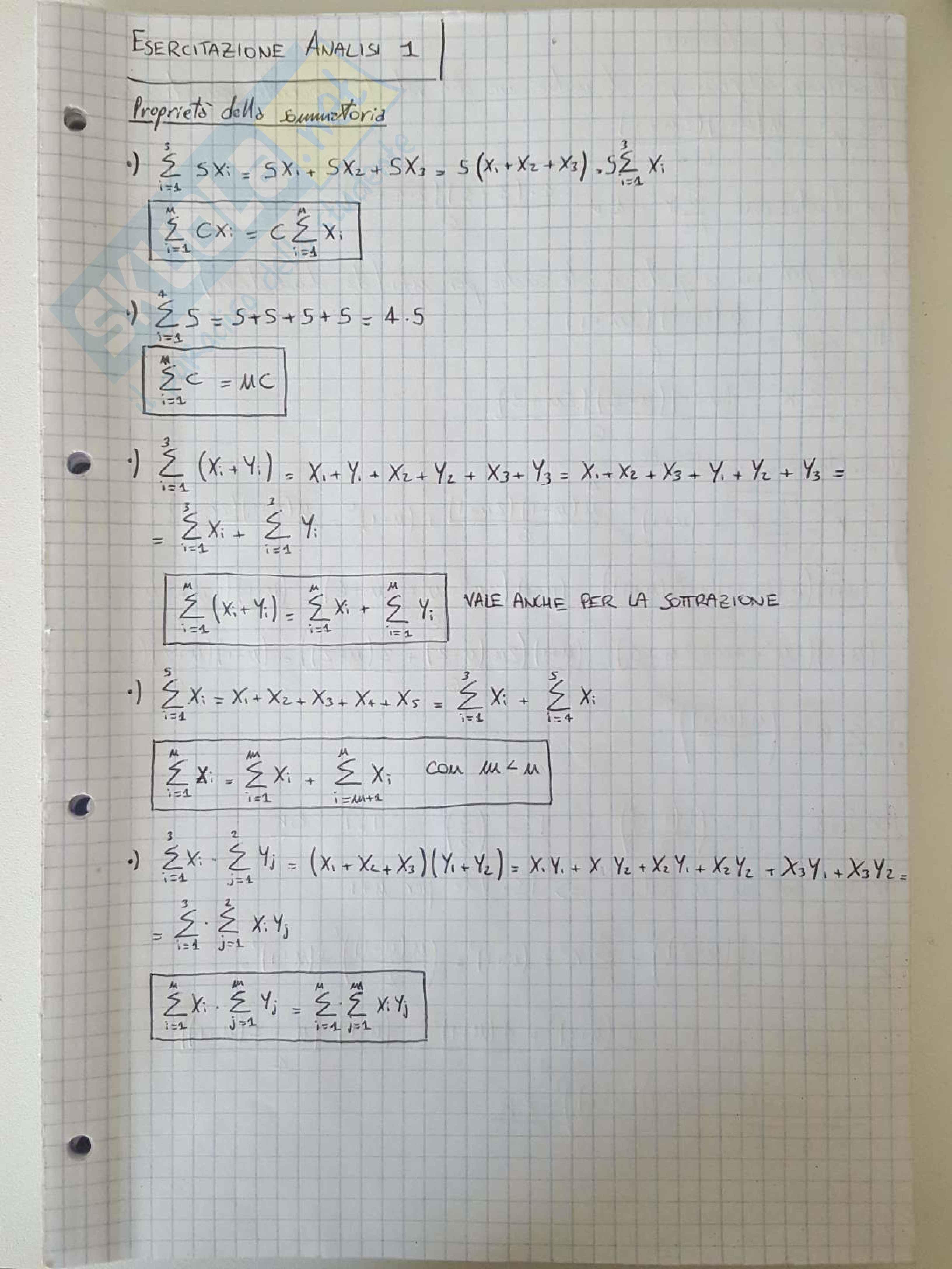 esercitazione C. Visigalli Analisi e geometria I