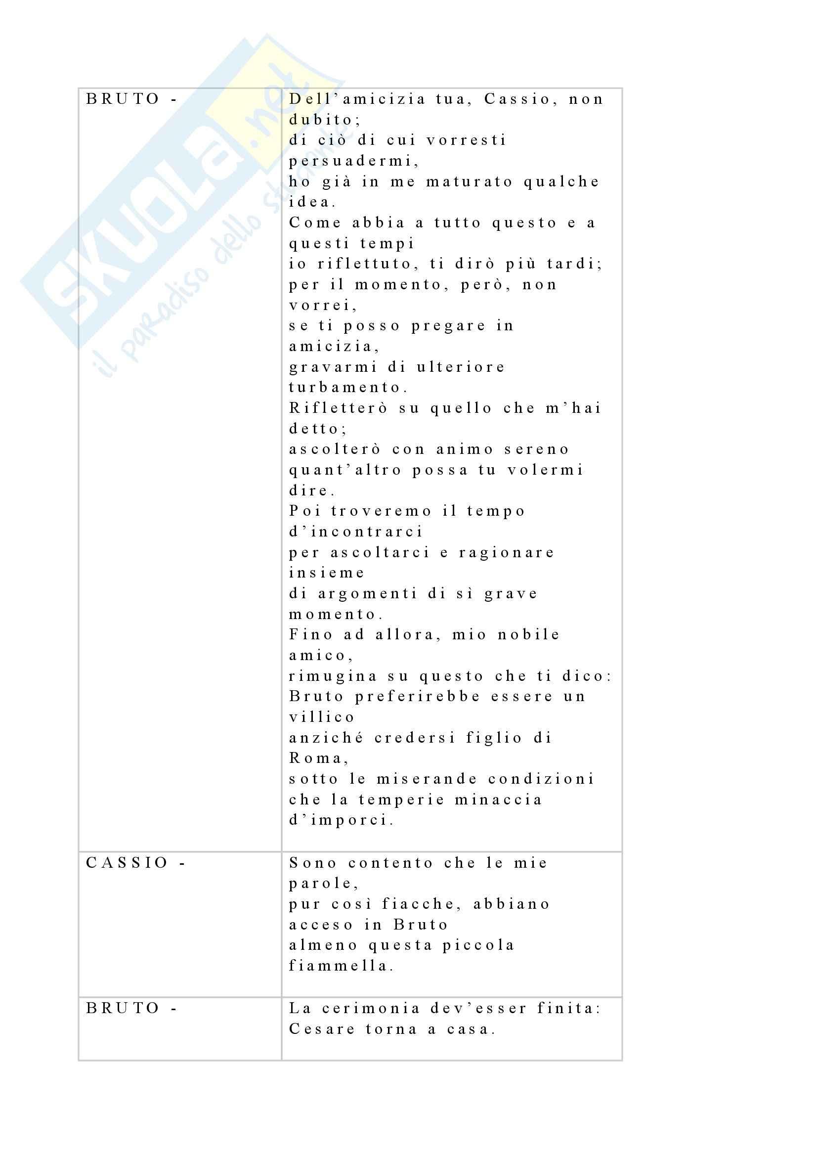 Tecniche espressive e composizione testi in italiano - Giulio Cesare - Shakespeare Pag. 21