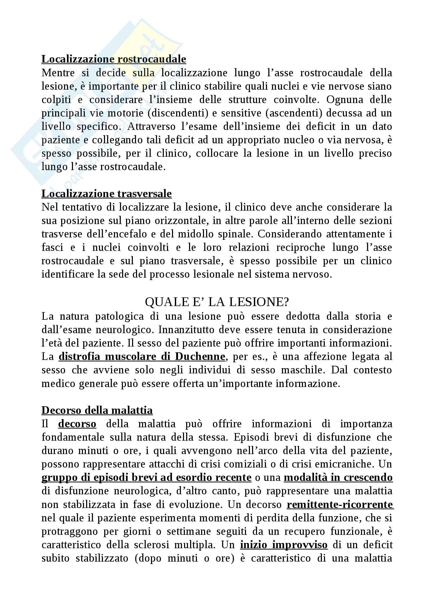 Riassunto esame Struttura e funzionamento del sistema nervoso, prof. Raffaele, libro consigliato Neuroanatomia clinica, Waxman Pag. 26