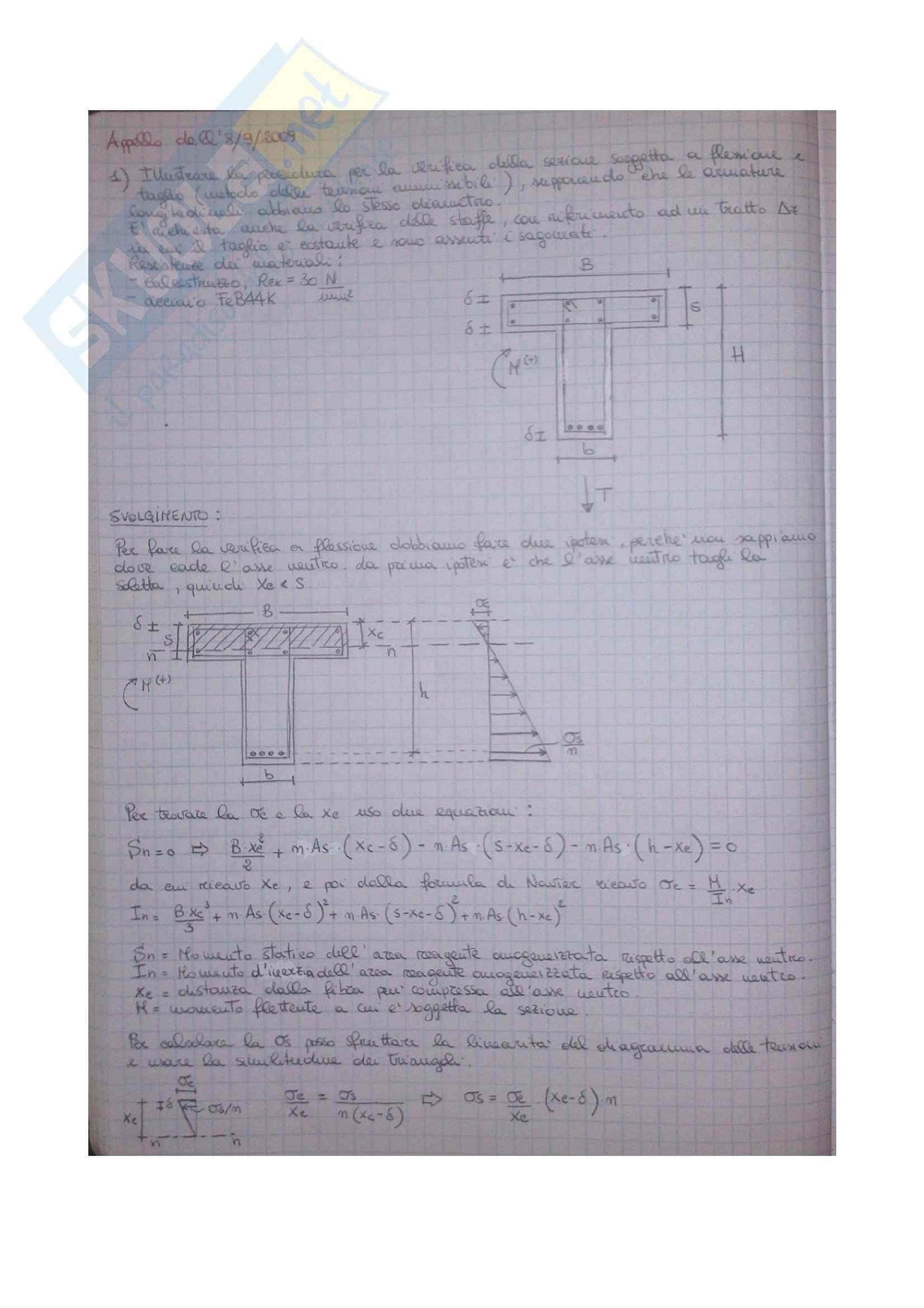 Esercizi Tecnica delle Costruzioni 1 Pag. 26