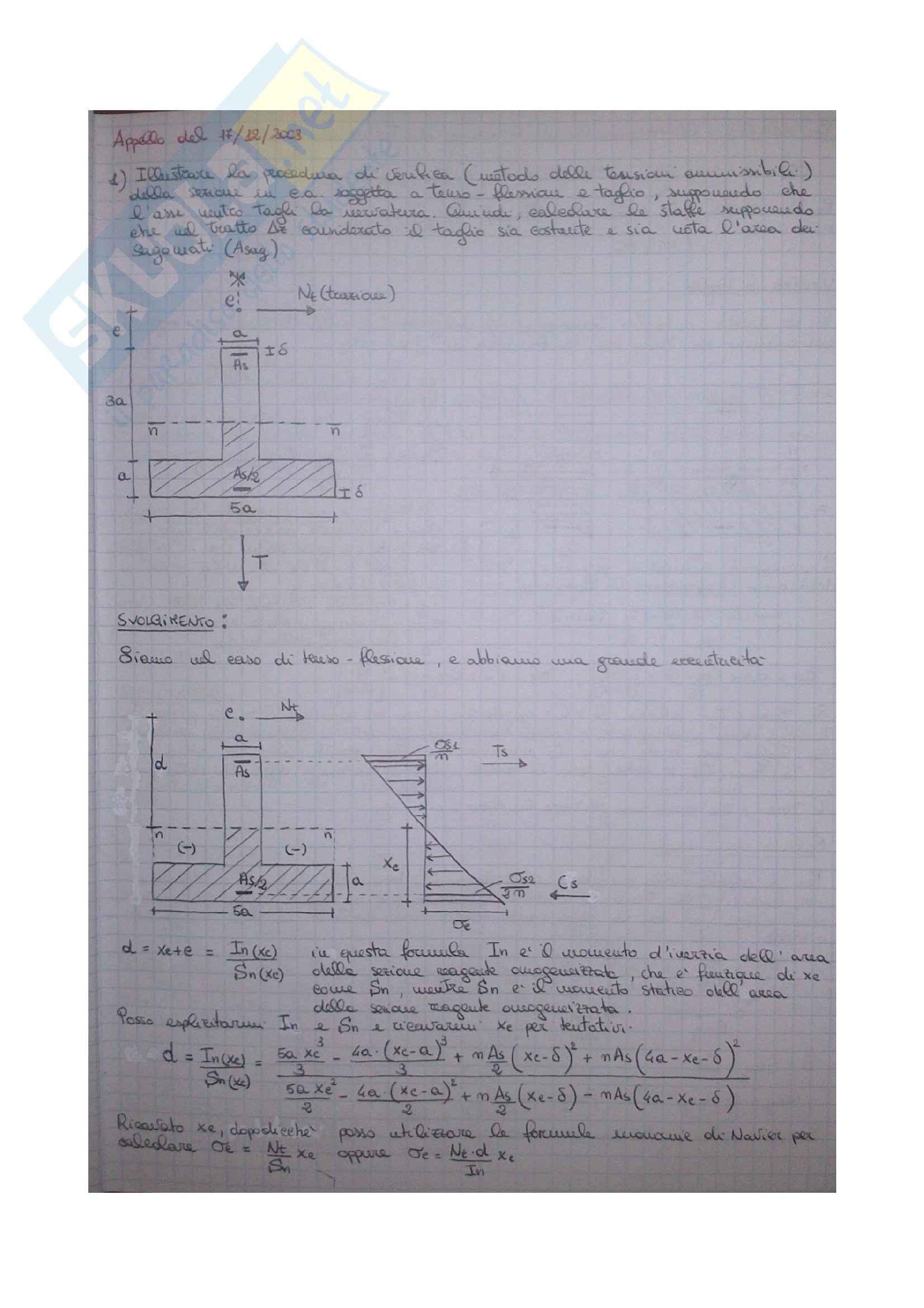 Esercizi Tecnica delle Costruzioni 1 Pag. 51