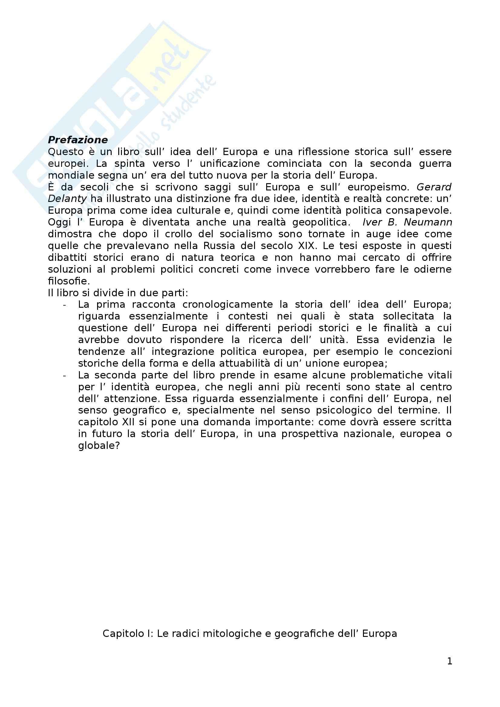 Riassunto esame Storia dell'Europa, prof. Zannini, libro consigliato Europa - Storia di un'idea e di un'identità, Mikkeli