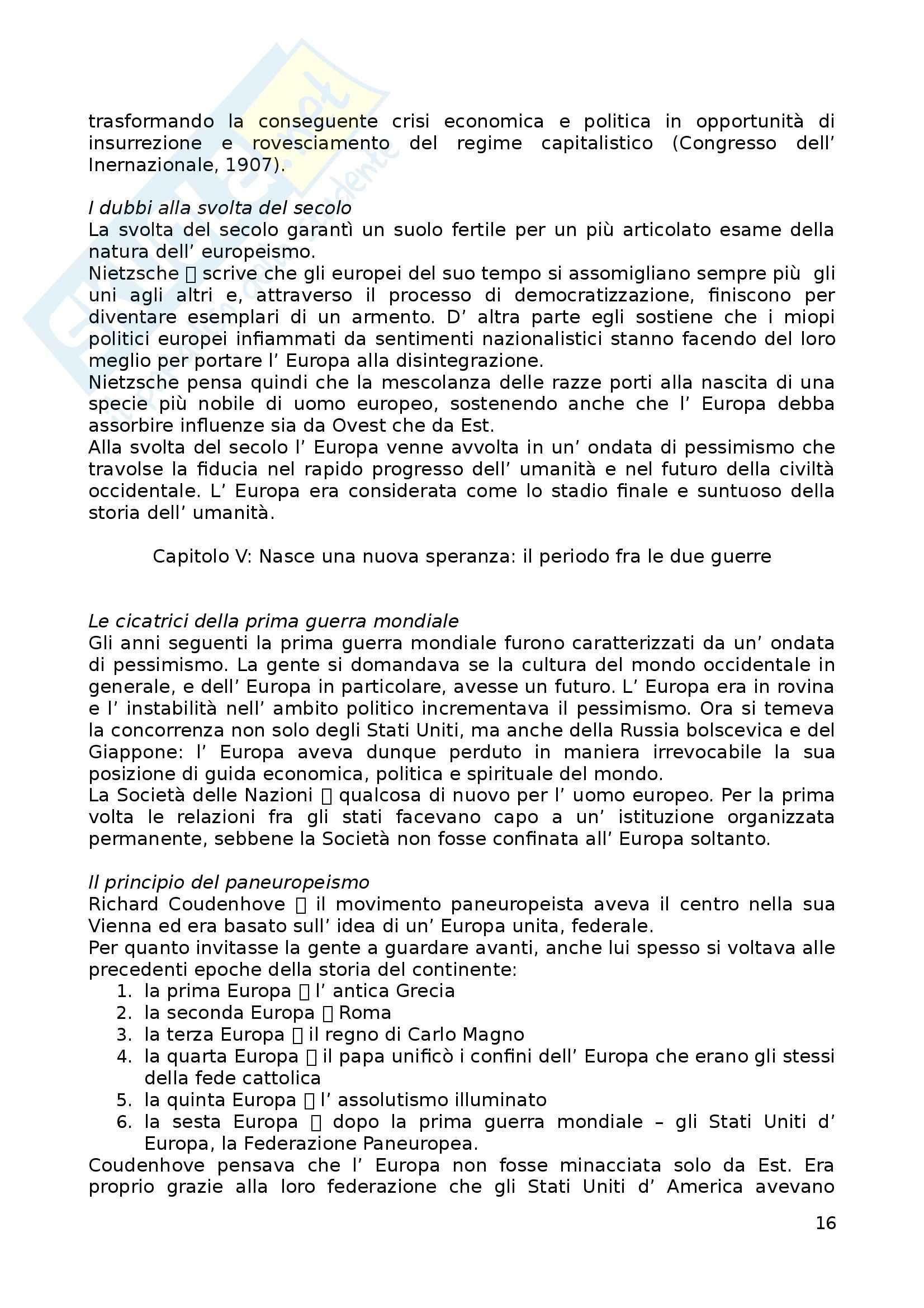 Riassunto esame Storia dell'Europa, prof. Zannini, libro consigliato Europa - Storia di un'idea e di un'identità, Mikkeli Pag. 16