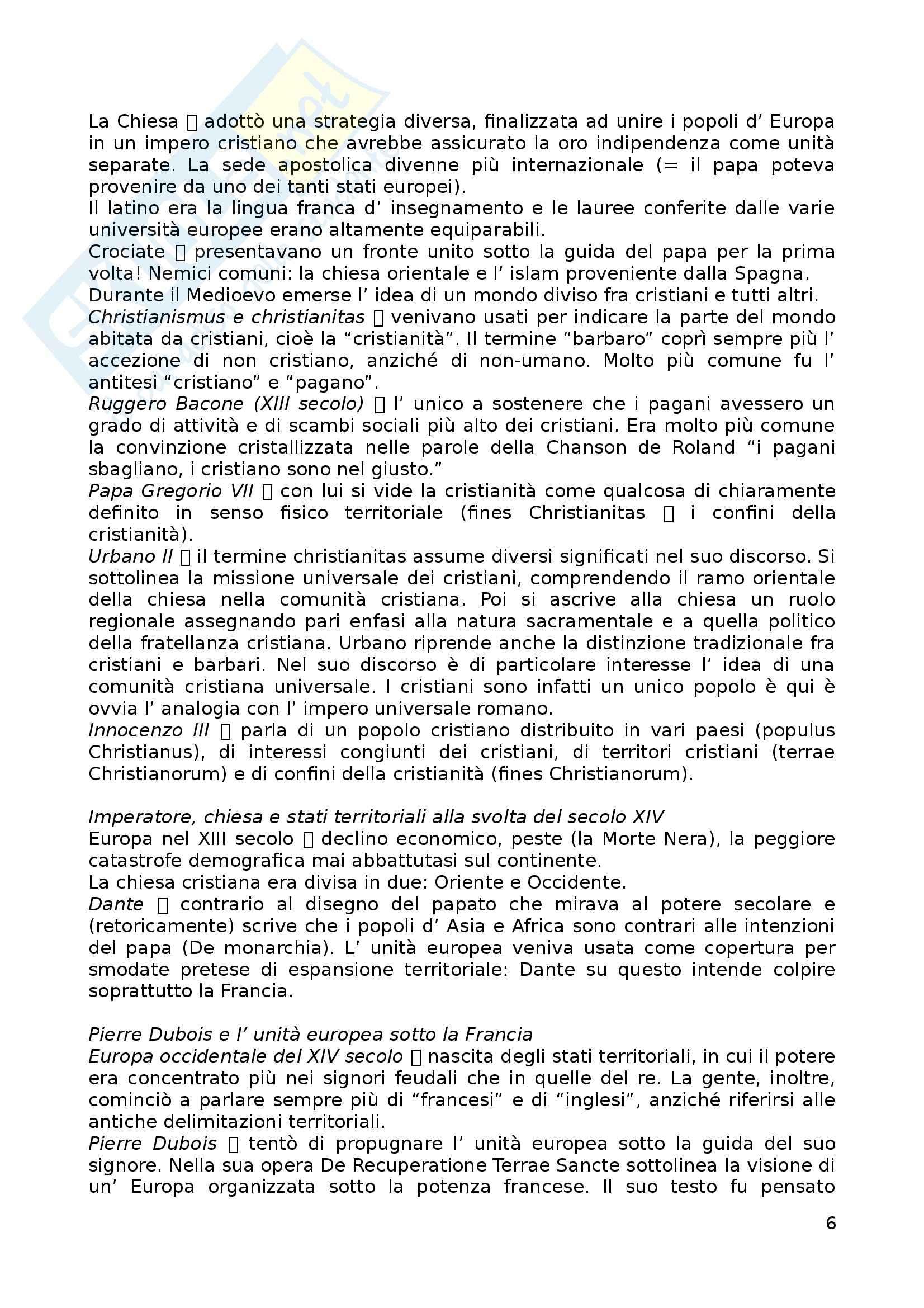 Riassunto esame Storia dell'Europa, prof. Zannini, libro consigliato Europa - Storia di un'idea e di un'identità, Mikkeli Pag. 6